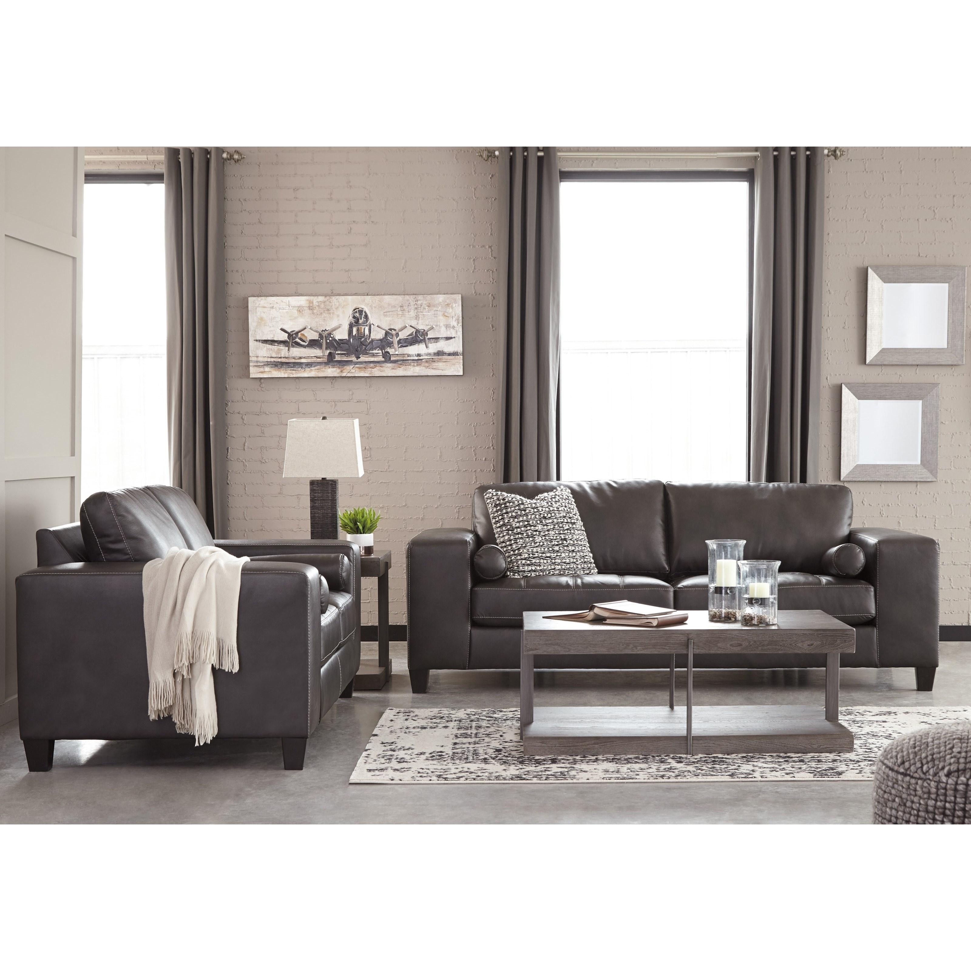Signature design by ashley nokomis stationary living room for Living room furniture groups