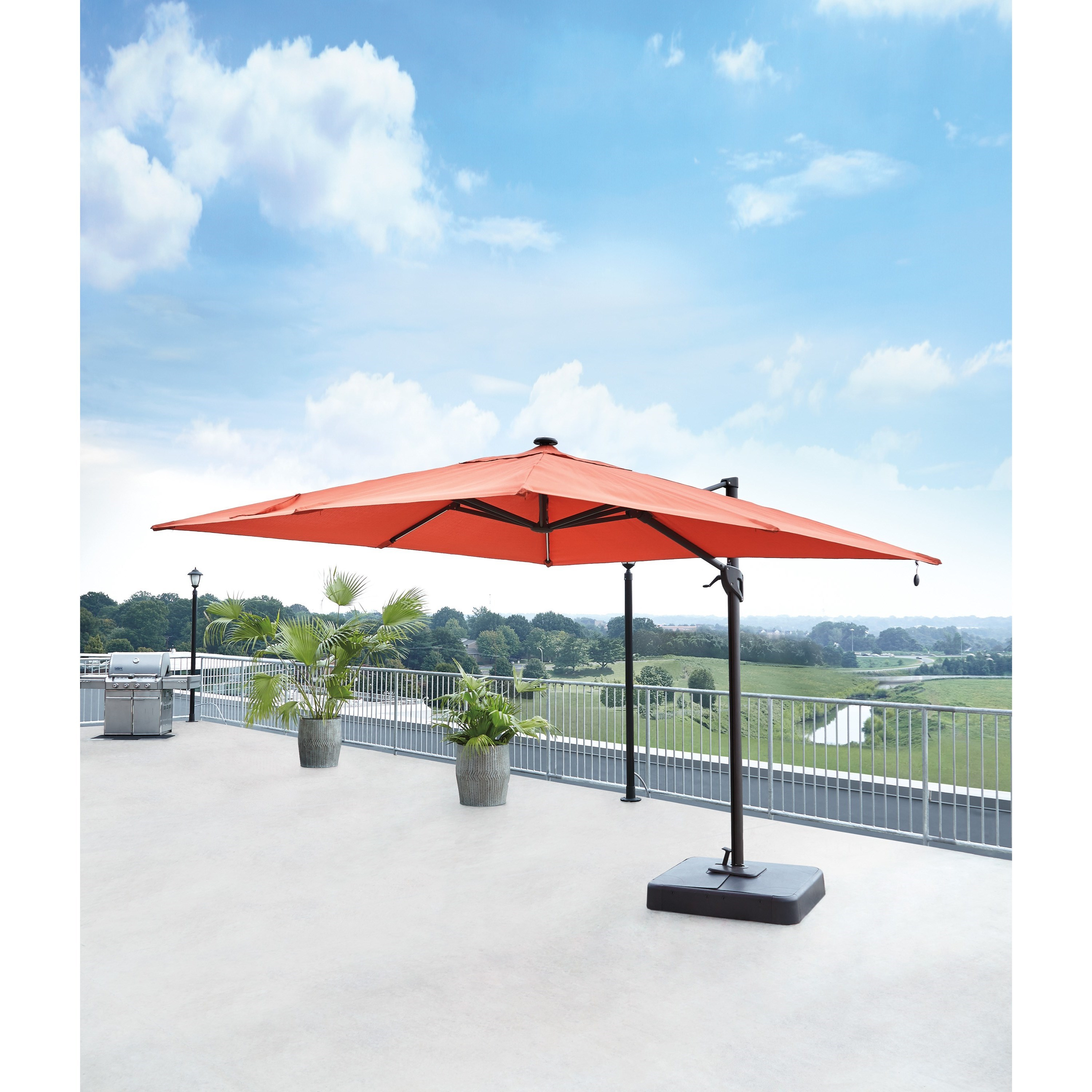 Signature design by ashley oakengrove coral large for Architecture upbrella
