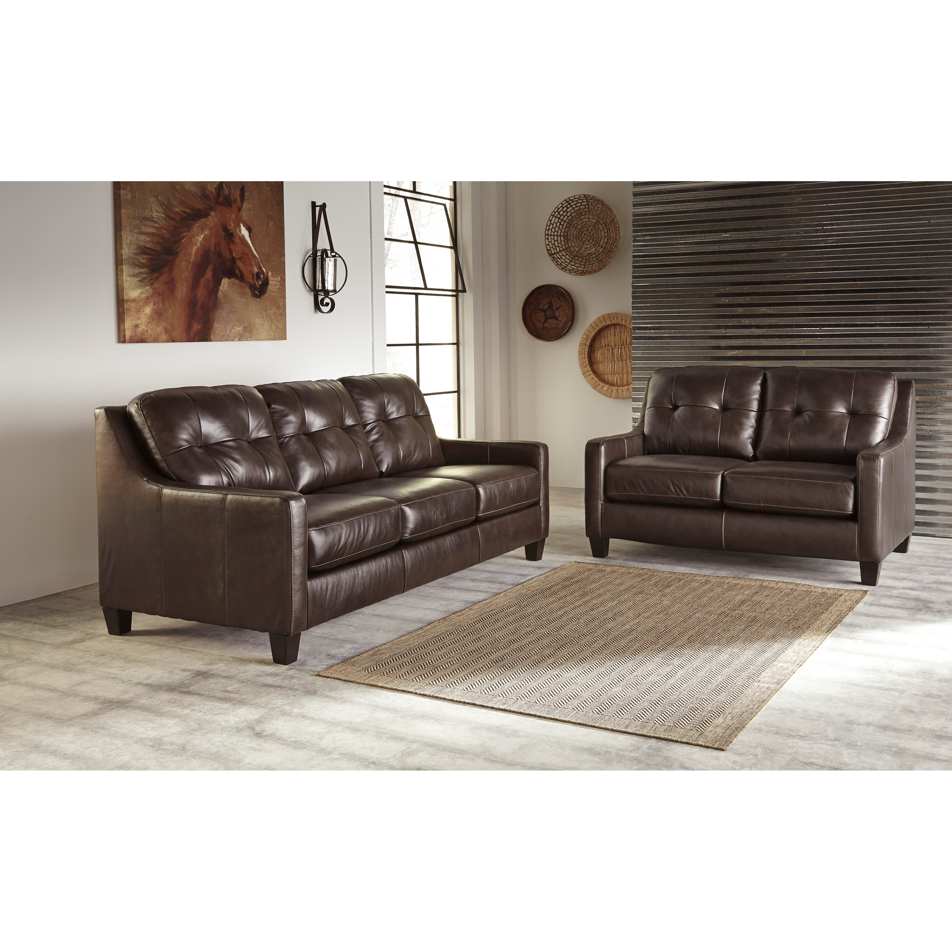 Signature design by ashley o 39 kean stationary living room for Living room furniture groups