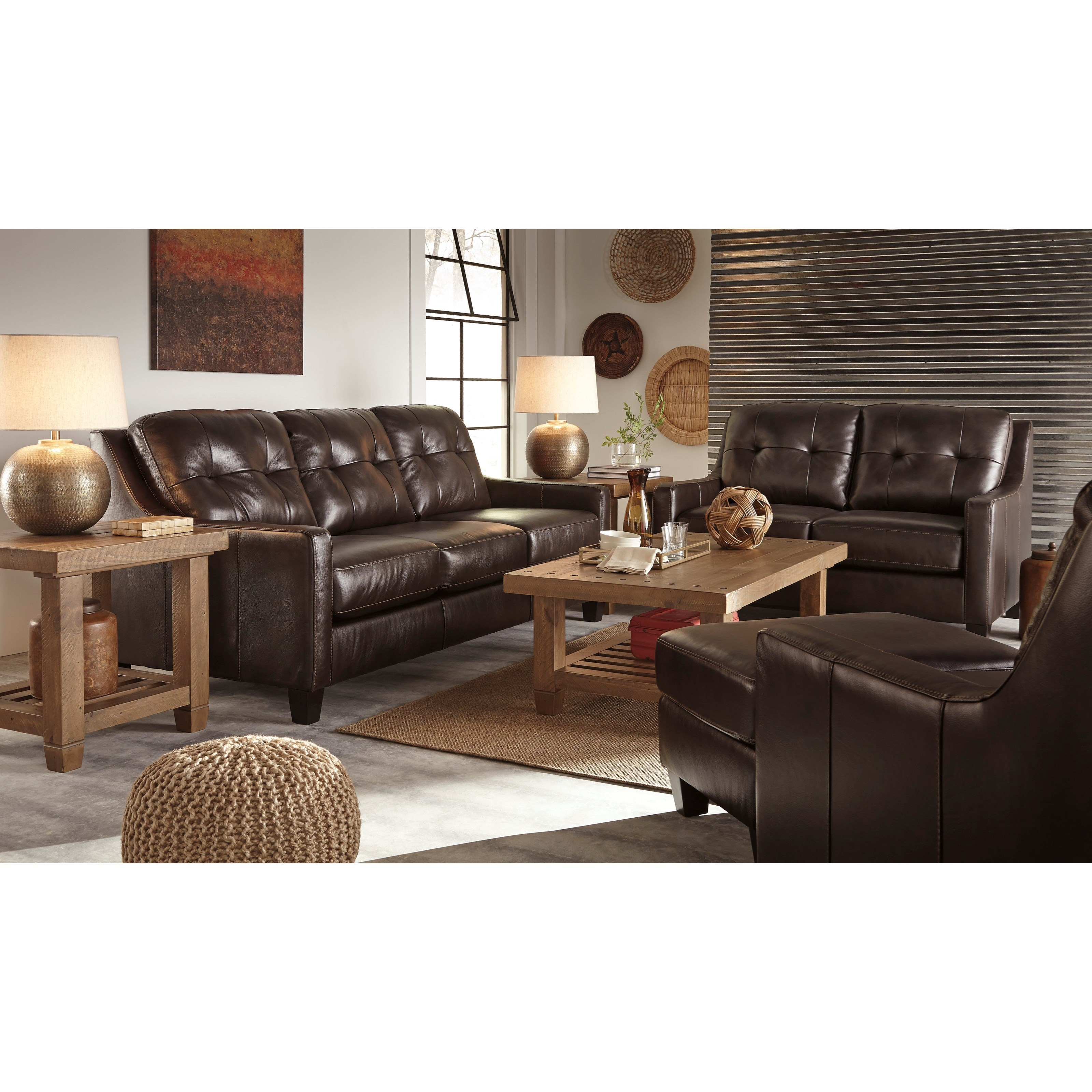 Ashley signature design o 39 kean stationary living room for Living room furniture groups