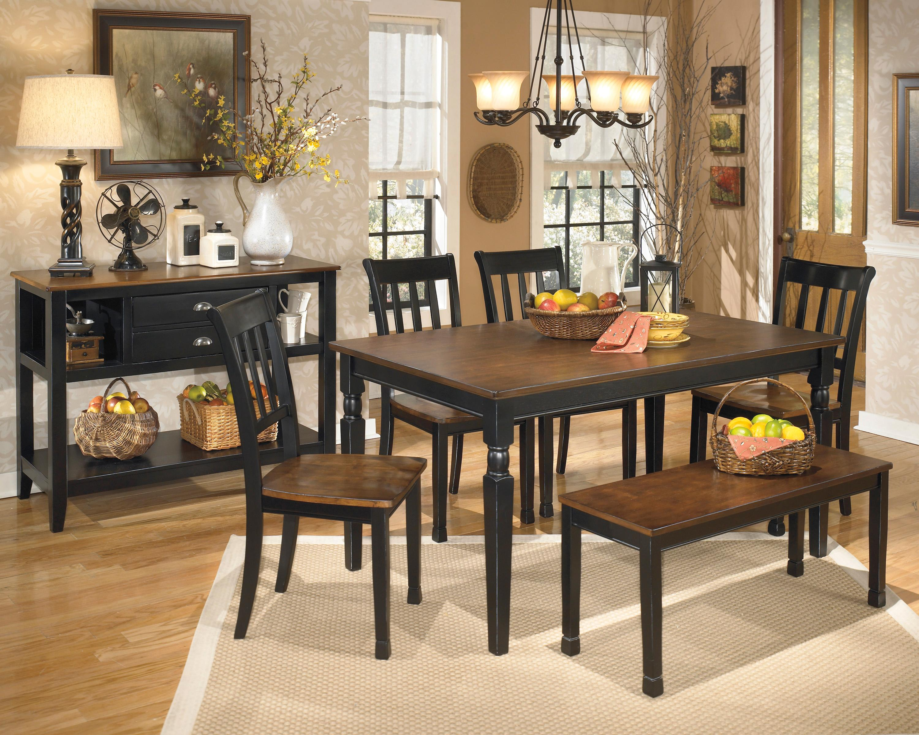 Signature design by ashley owingsville casual dining room for Casual dining room photos