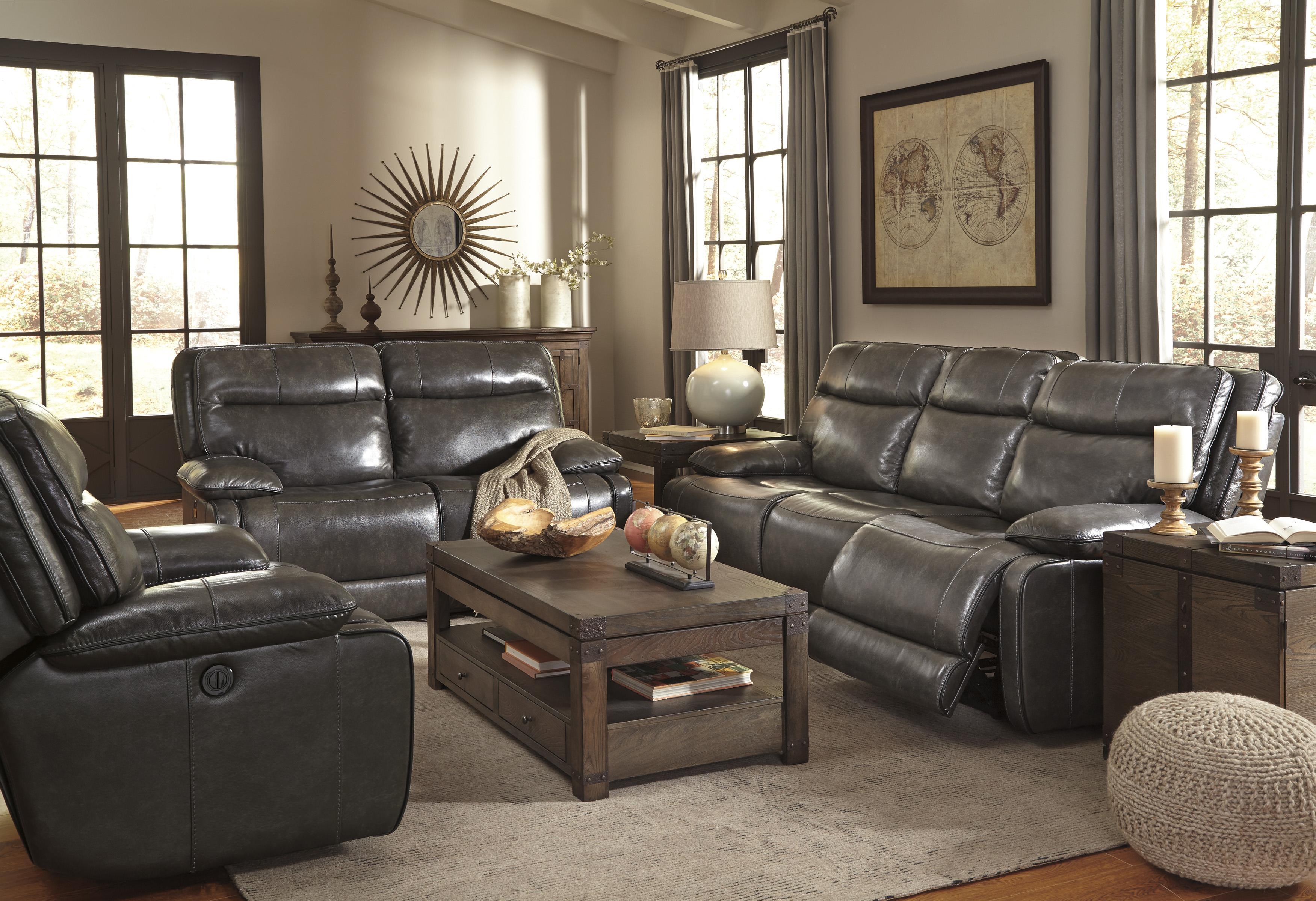 ashley signature design palladum u72601 living room group 4 reclining living room group dunk. Black Bedroom Furniture Sets. Home Design Ideas
