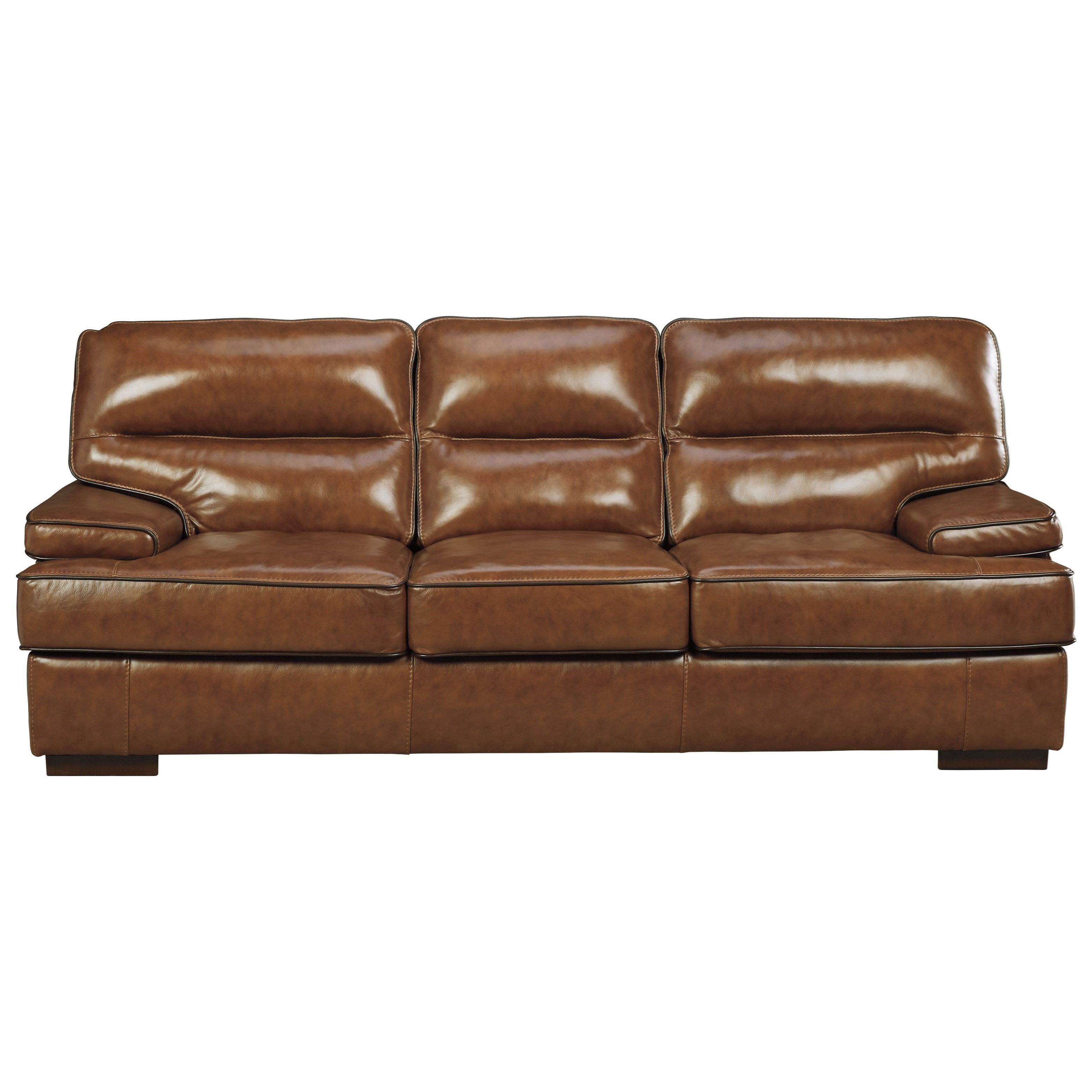 Signature design by ashley palner contemporary leather for Ashley leather sofa