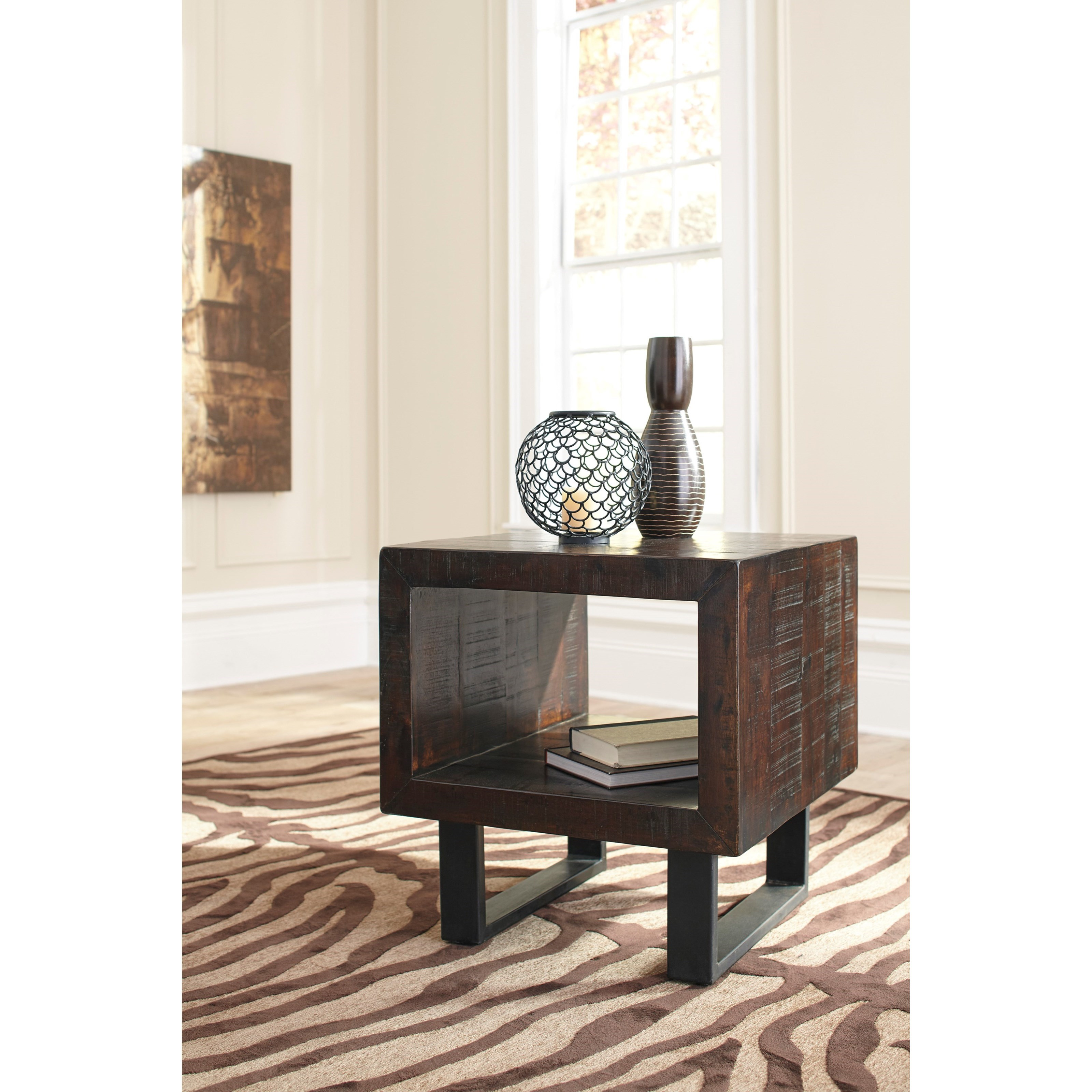 signature design by ashley parlone rustic solid acacia
