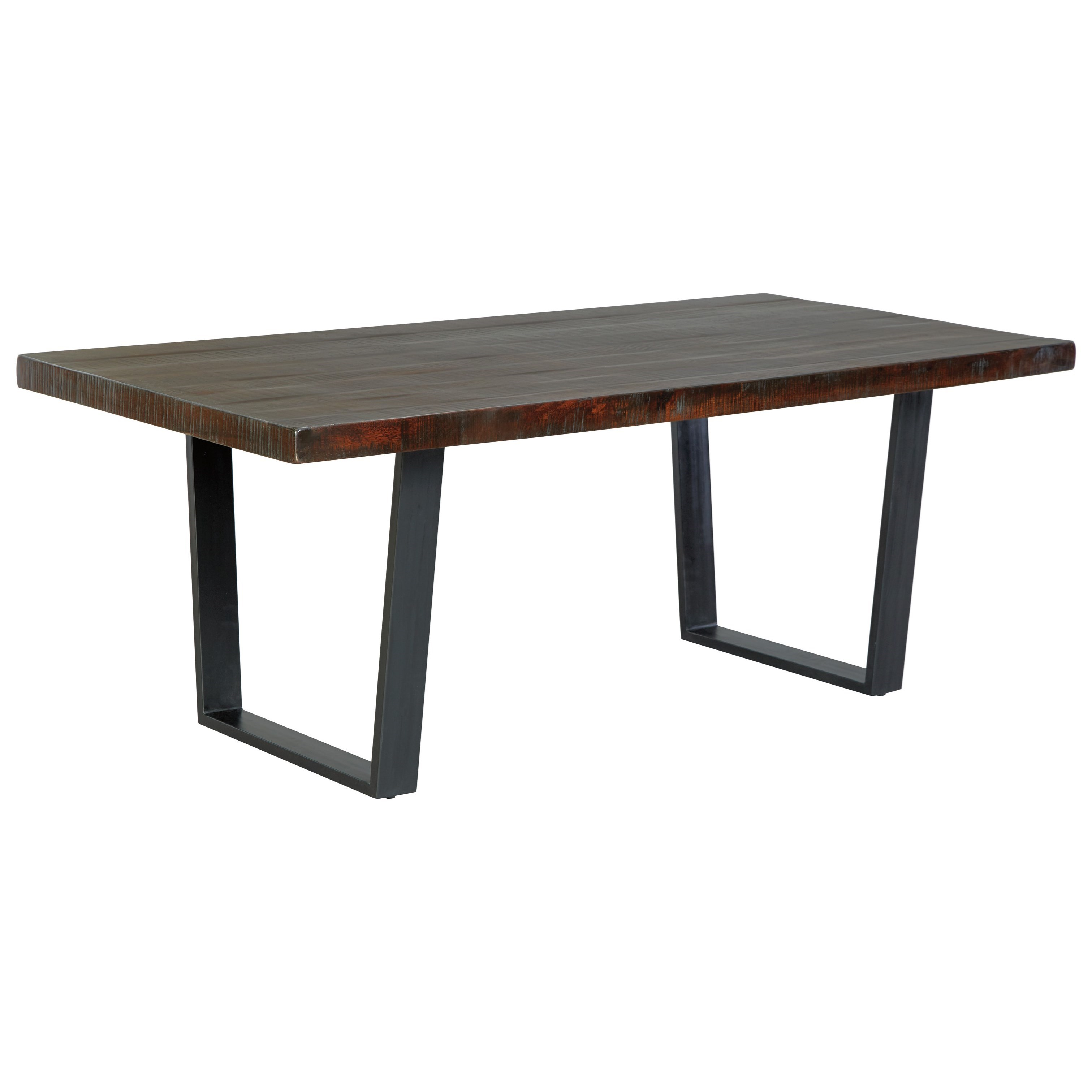 Ashley signature design parlone d721 25 modern rustic for Rustic modern dining room table