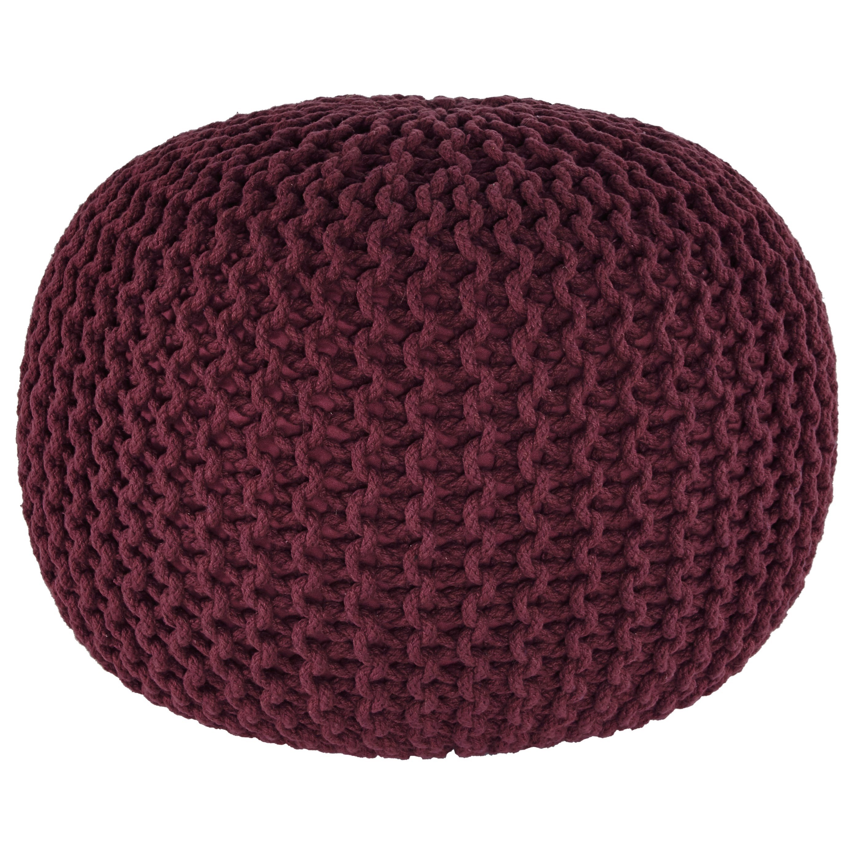 Signature design by ashley poufs nils maroon pouf household furniture p - Pouf marron conforama ...
