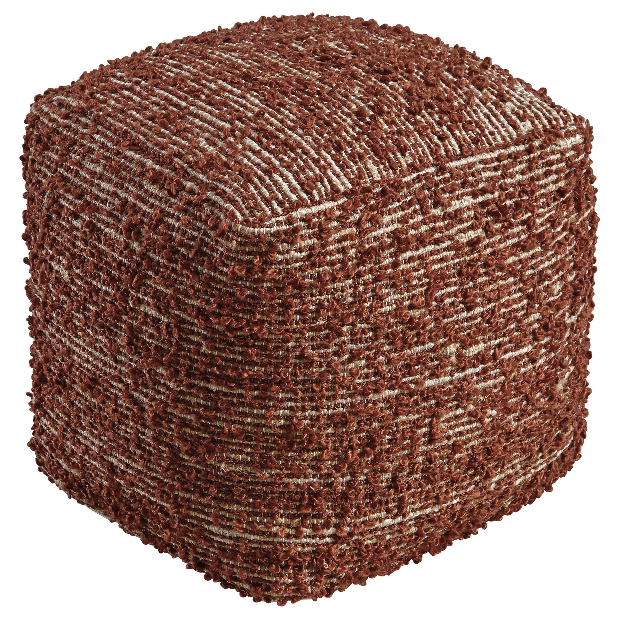 signature design by ashley poufs darita brown pouf. Black Bedroom Furniture Sets. Home Design Ideas