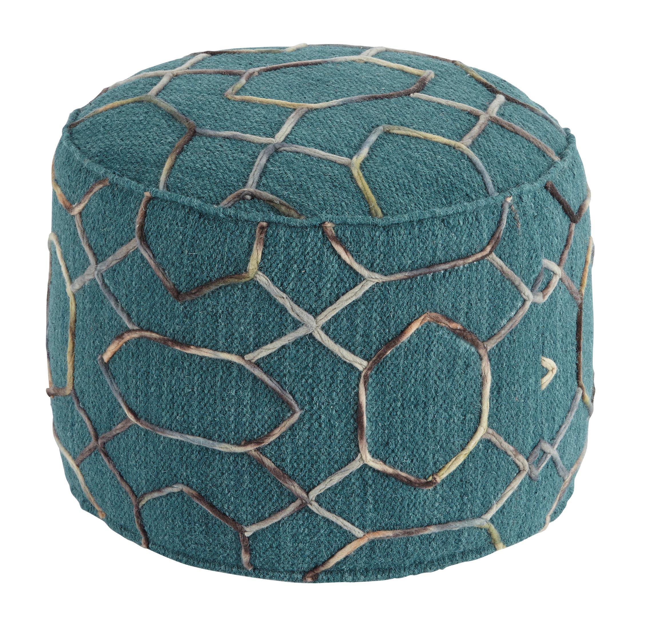 ashley signature design poufs a1000434 overdyed dark. Black Bedroom Furniture Sets. Home Design Ideas