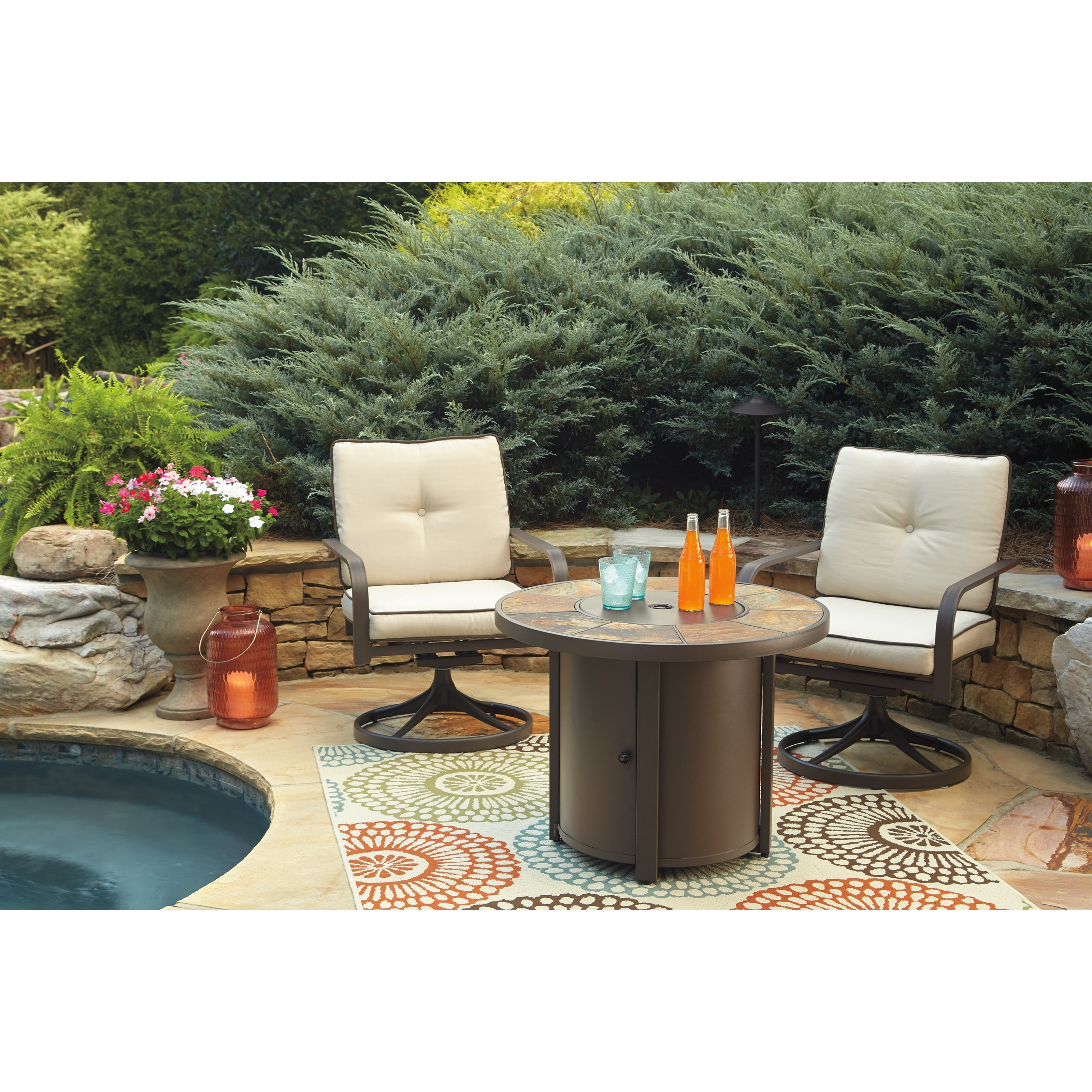 Signature Design By Ashley Predmore 3 Piece Round Fire Pit