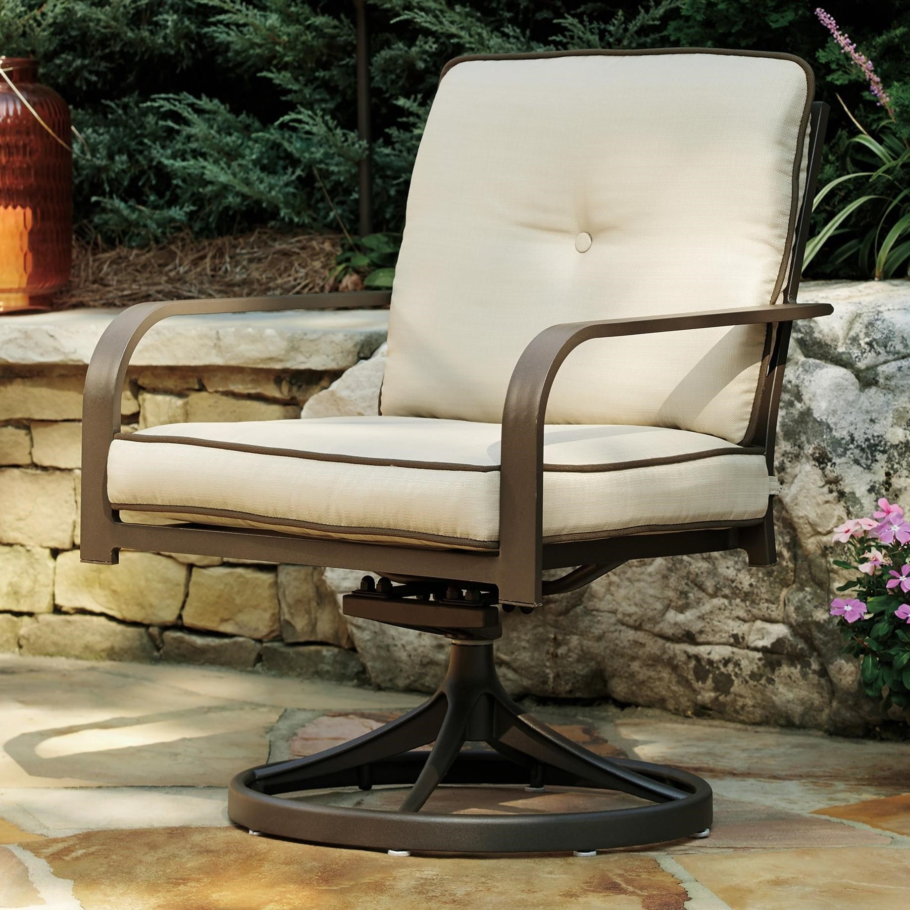 Ashley Signature Design Predmore Set of 2 Swivel Lounge Chairs Johnny Jan