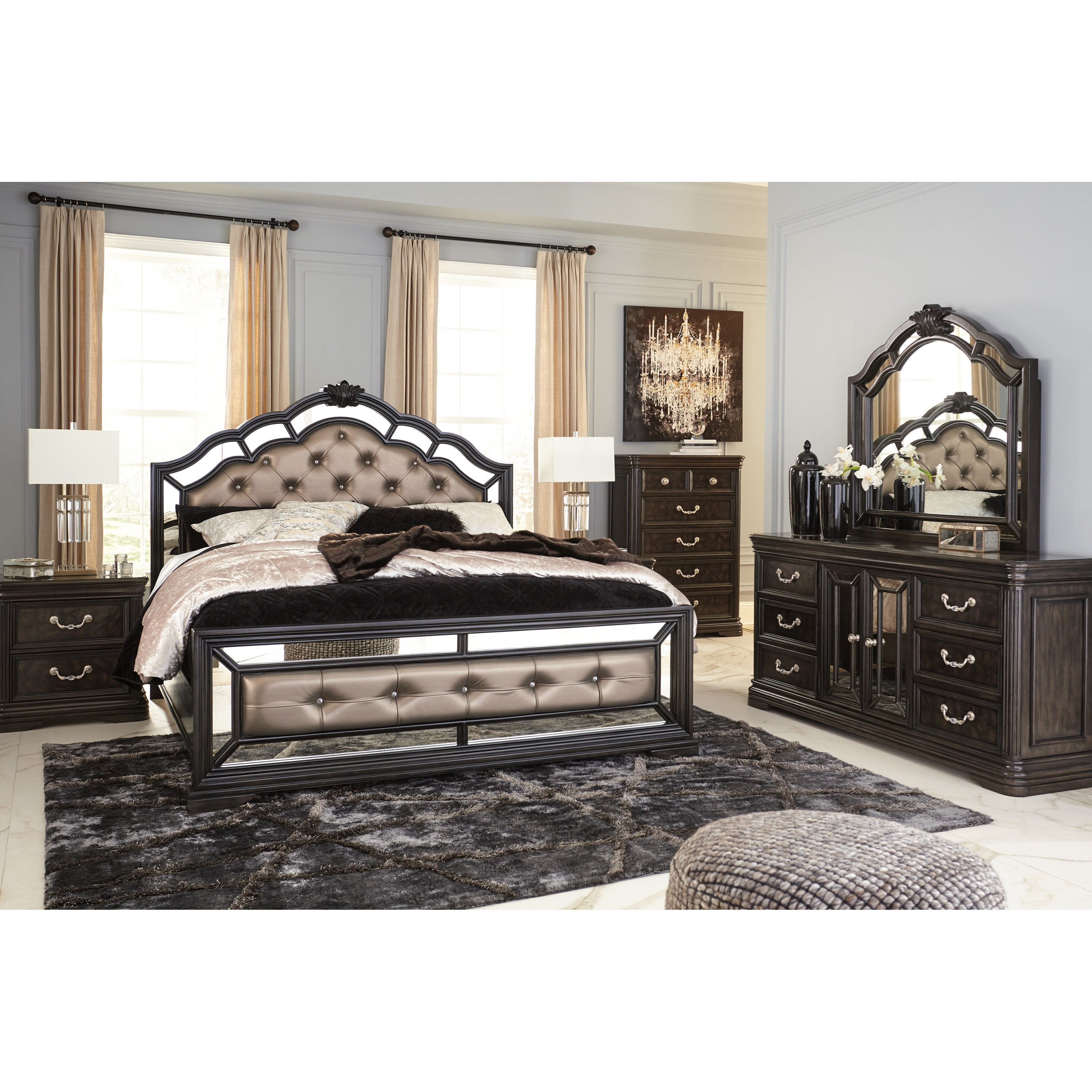 signature design by ashley quinshire queen bedroom group royal furniture bedroom groups. Black Bedroom Furniture Sets. Home Design Ideas