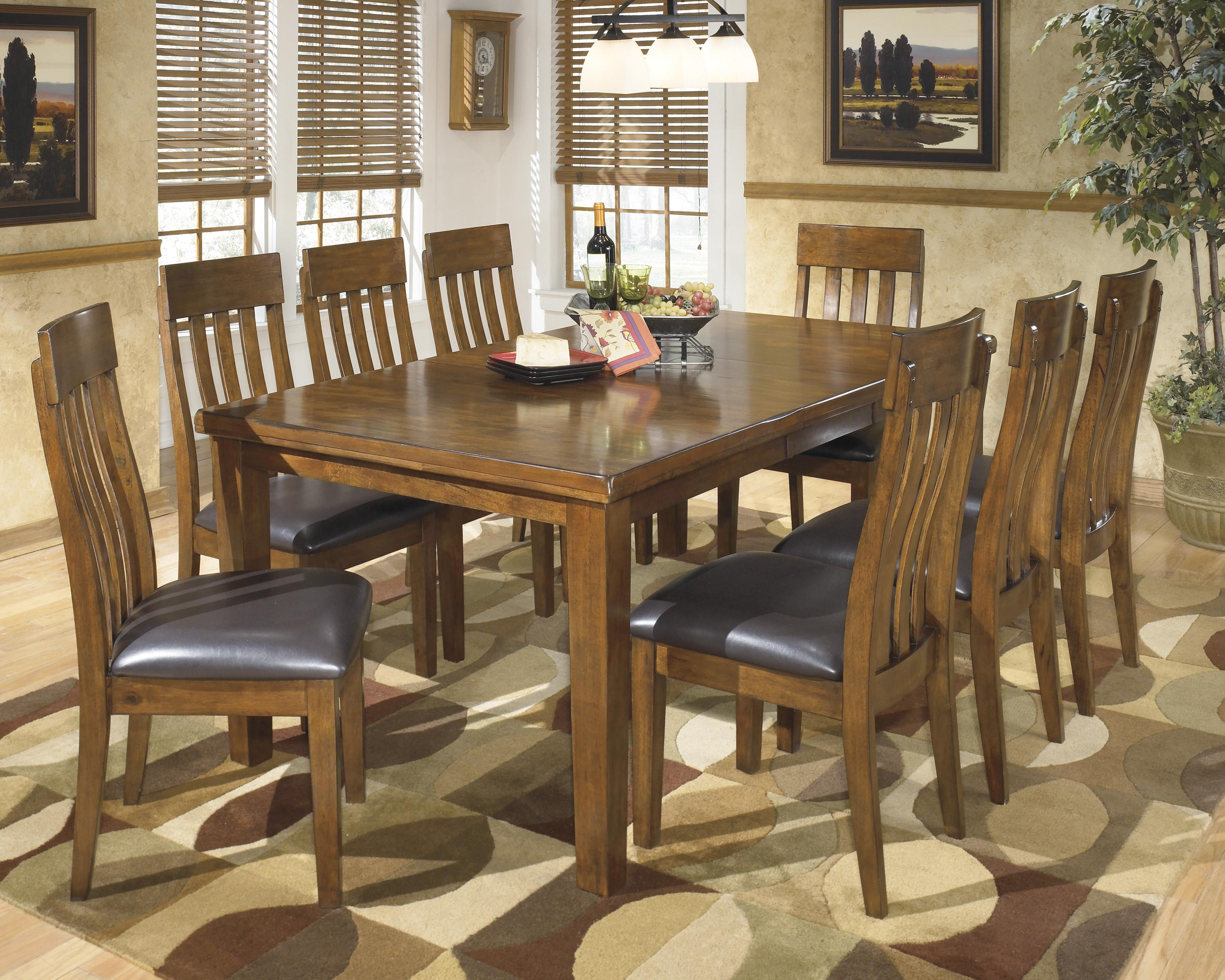 Signature Design By Ashley Ralene 9 Pc Dining Set Northeast Factory Direct Dining 7 Or More