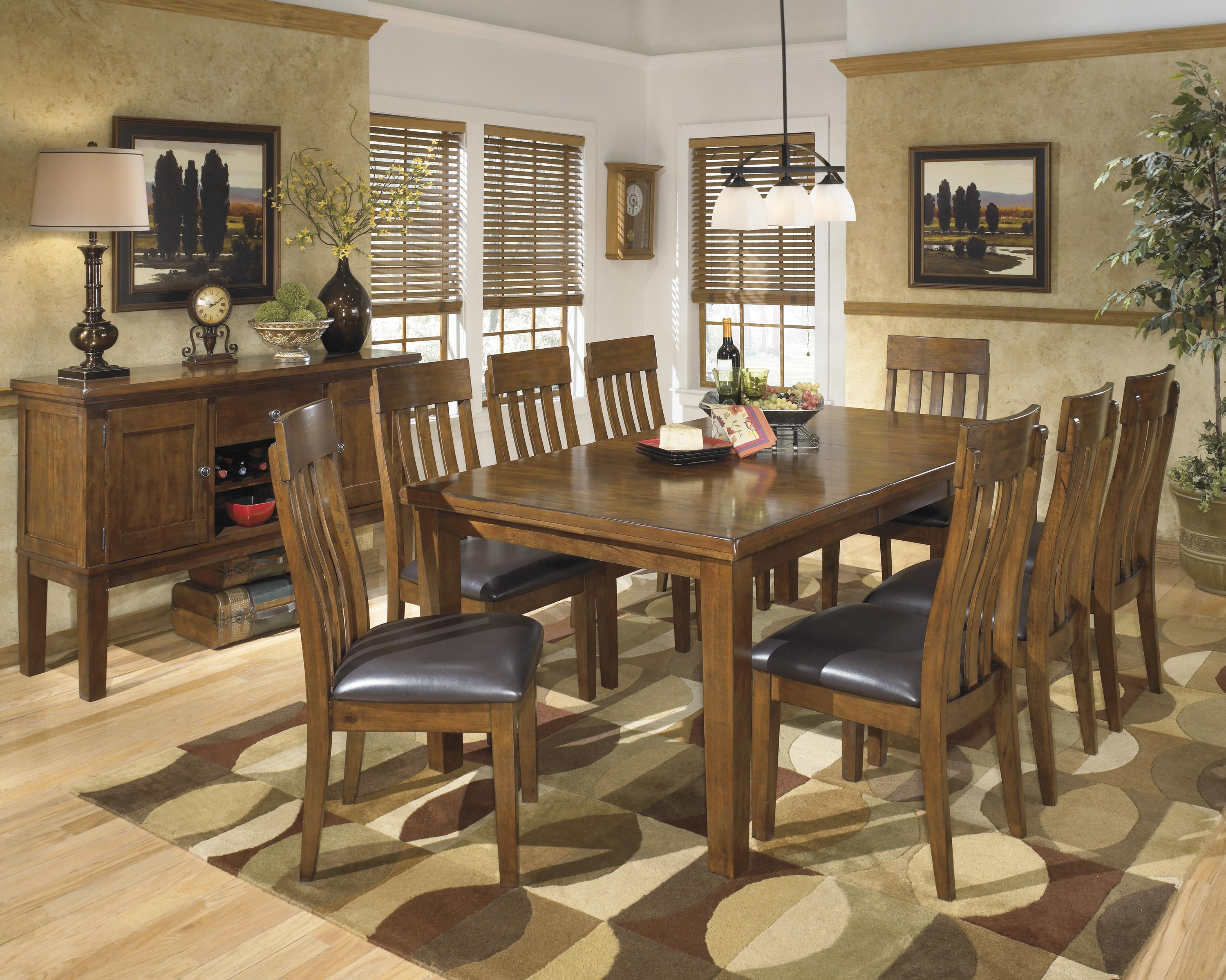 Ashley Signature Design Ralene Casual 9 Piece Dining Set With Butterfly Exten