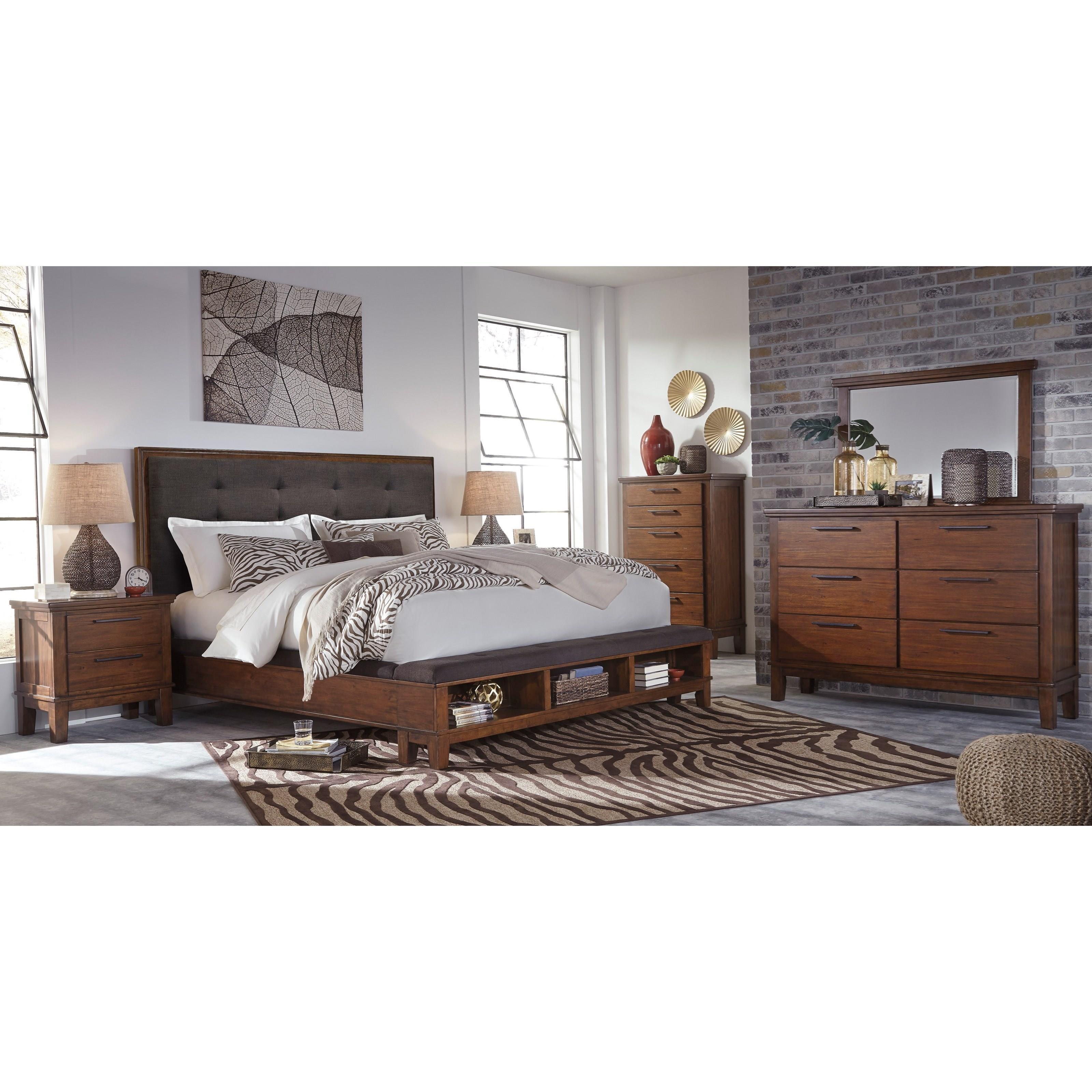 Signature design by ashley ralene queen 6 piece bedroom for Bedroom groups
