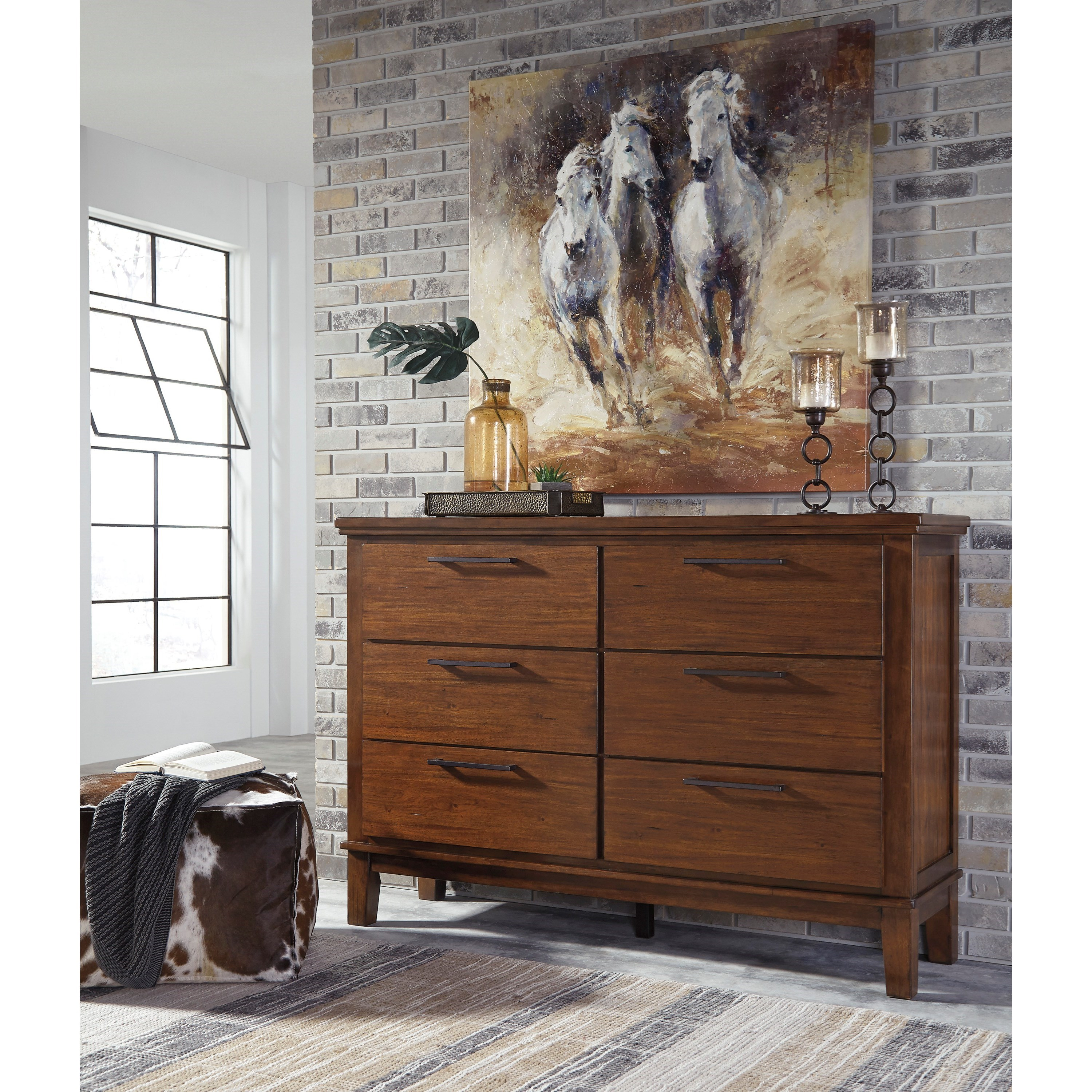 Signature Design By Ashley Ralene B594 31 Dresser With Contemporary Bar Pulls Beck 39 S Furniture