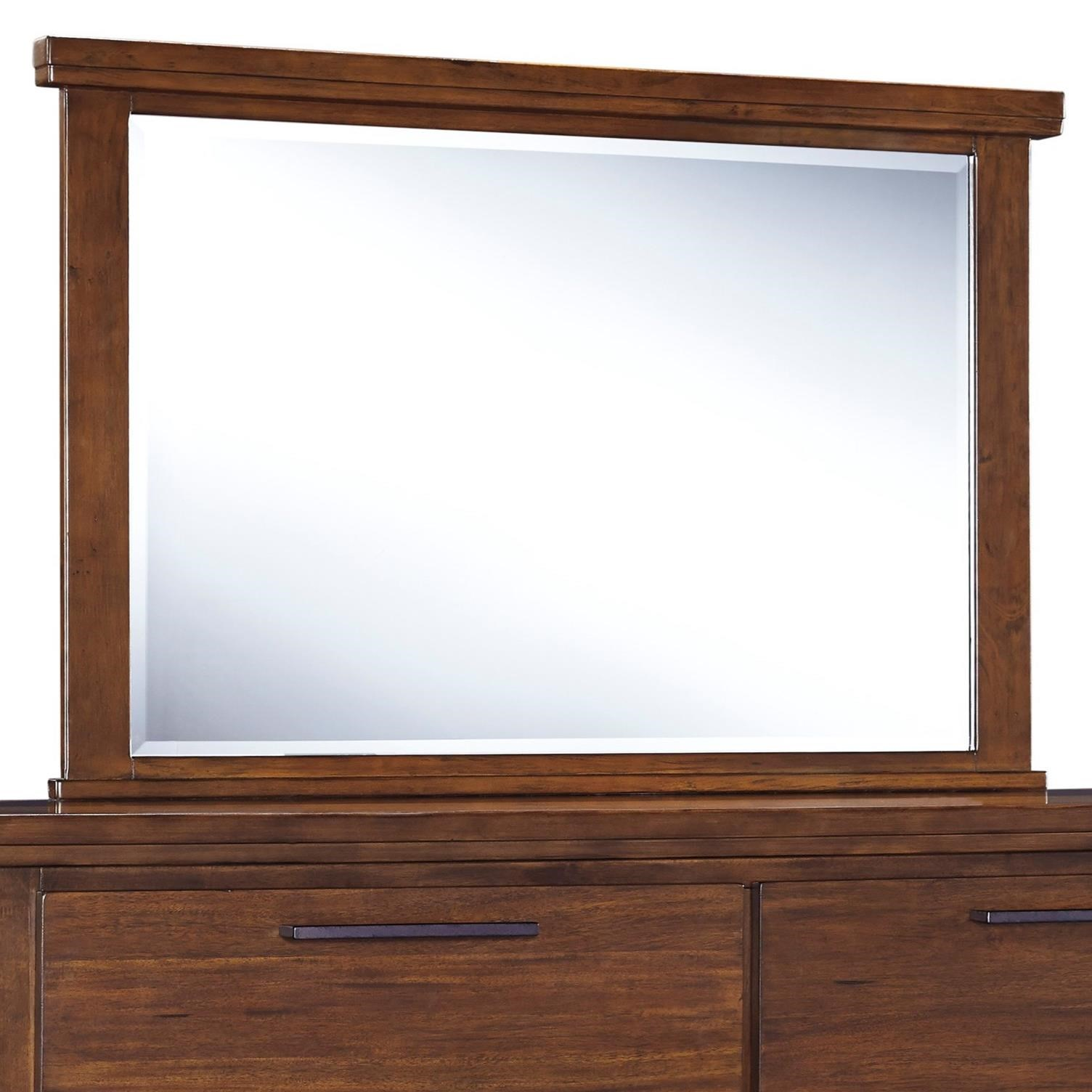 Signature design by ashley ralene bedroom mirror olinde 39 s furniture dresser mirrors for Ashley furniture ralene bedroom set