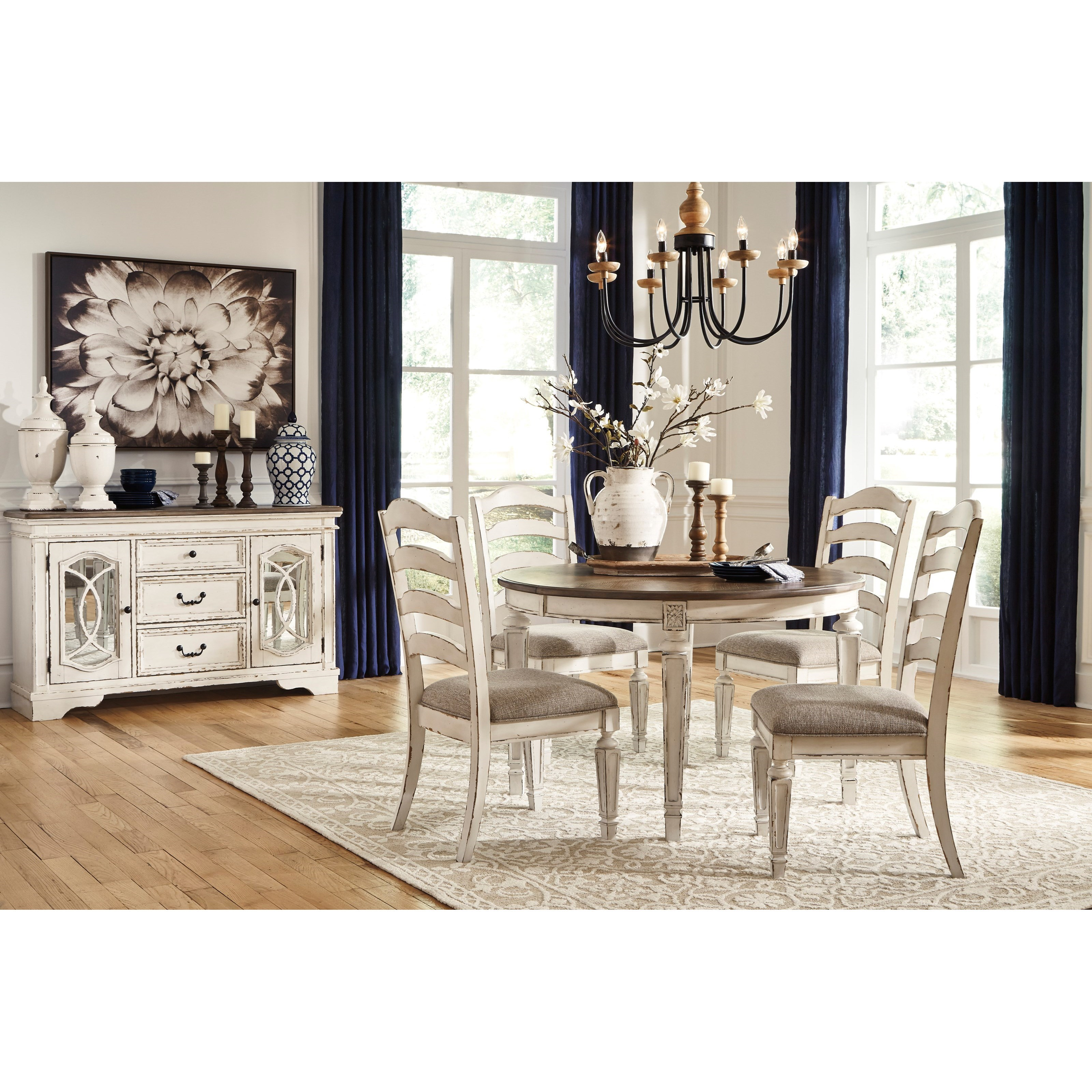 signature design by ashley realyn casual dining room group. Black Bedroom Furniture Sets. Home Design Ideas