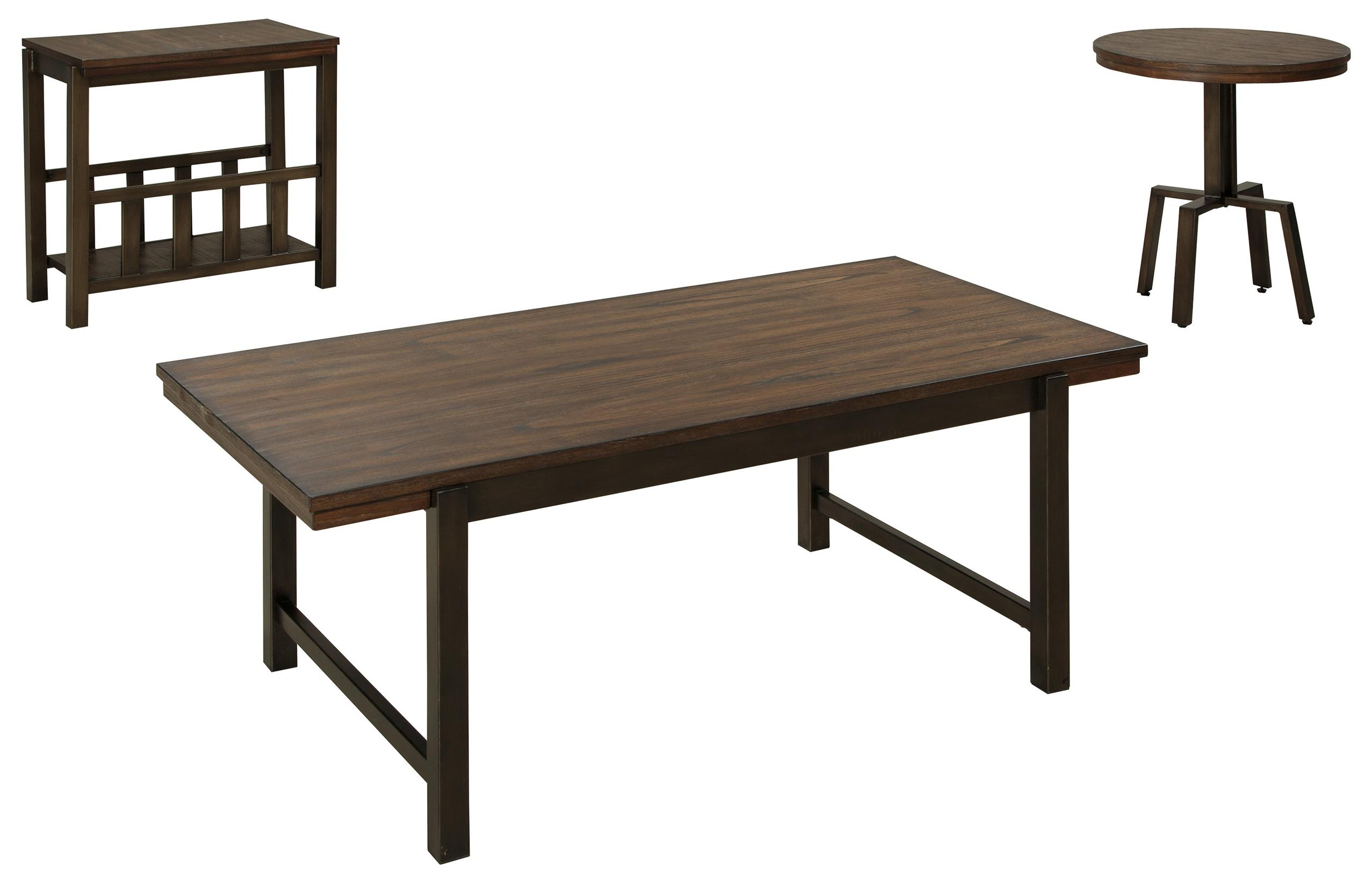 Signature design by ashley riggerton t212 13 industrial for Occasional table manufacturers