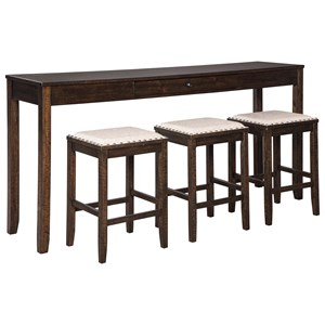 Signature Design By Ashley Rokane D397 223 Counter Height Dining Set For Three Furniture And