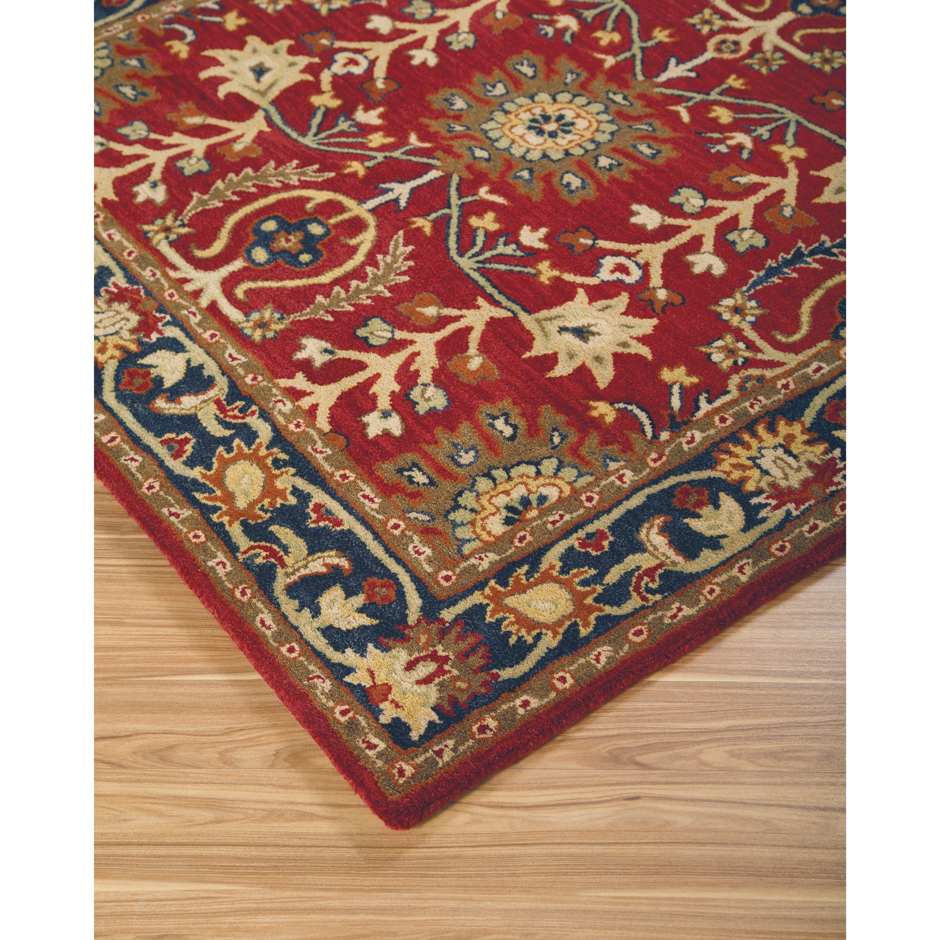 Signature Design By Ashley Traditional Classics Area Rugs Lymen Red Black Gray Medium Rug