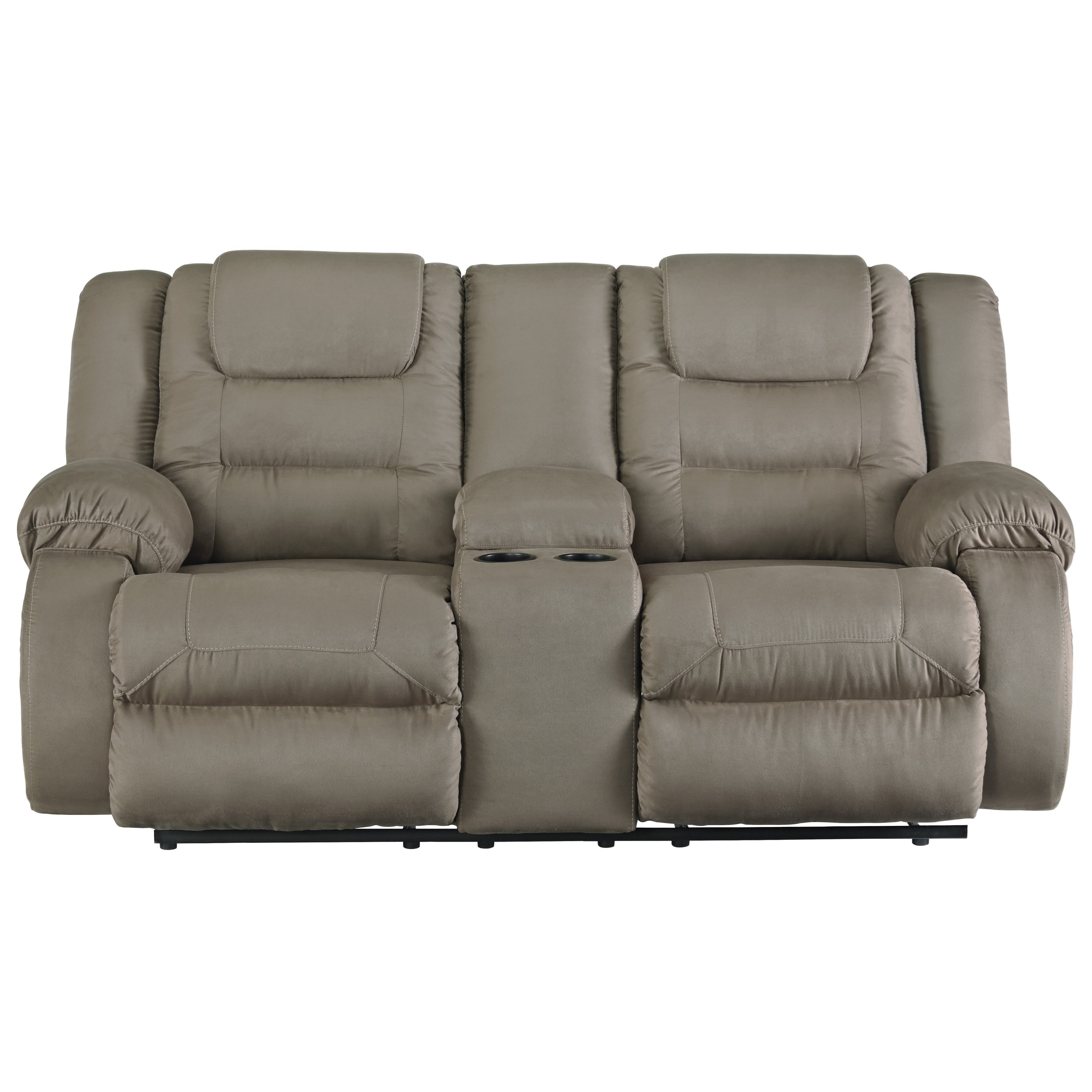 ashley signature design segburg double reclining loveseat with center console rooms and rest. Black Bedroom Furniture Sets. Home Design Ideas