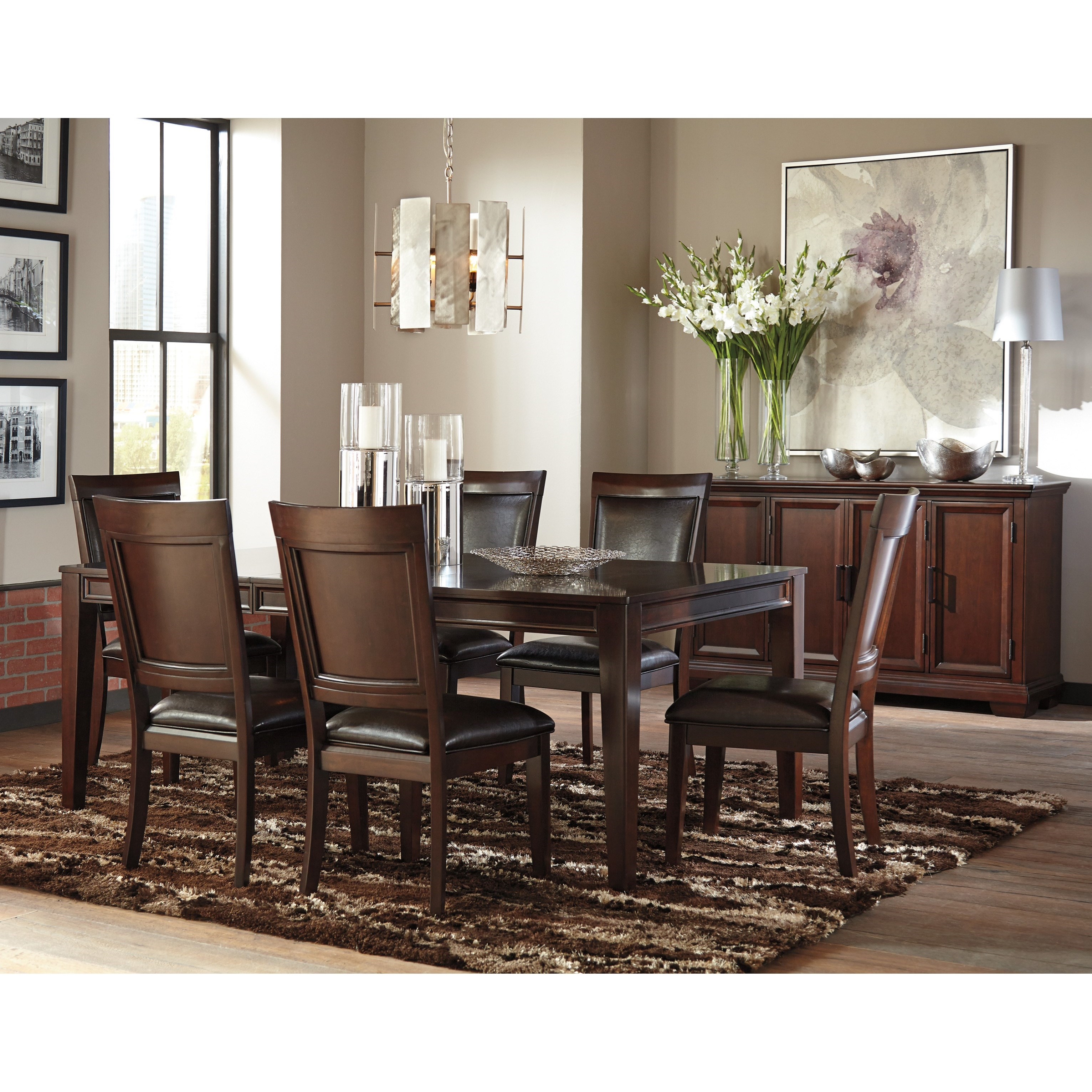 Signature design by ashley shadyn casual dining room group for Casual dining room furniture