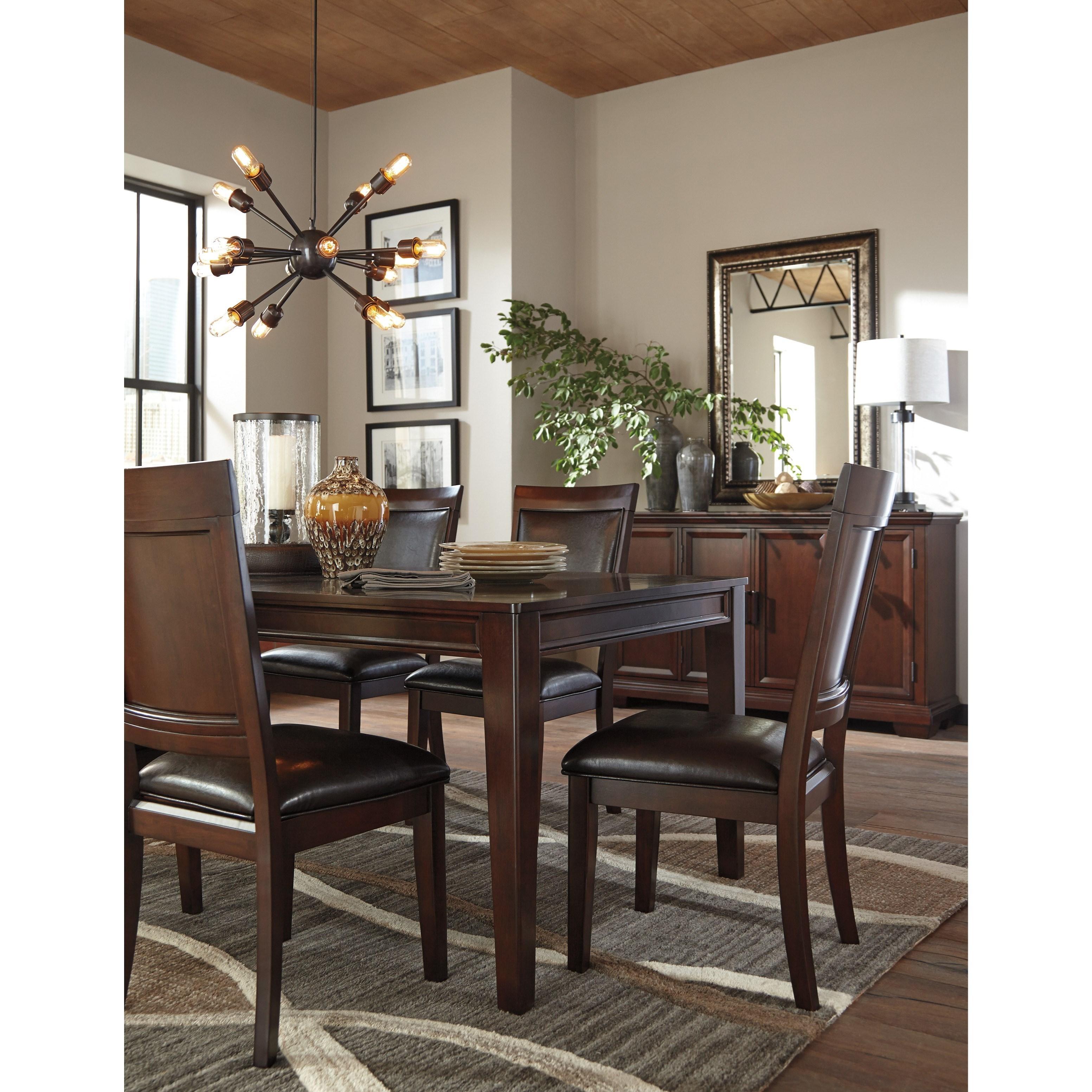 Ashley signature design shadyn d471 35 rectangular dining for Furniture 35