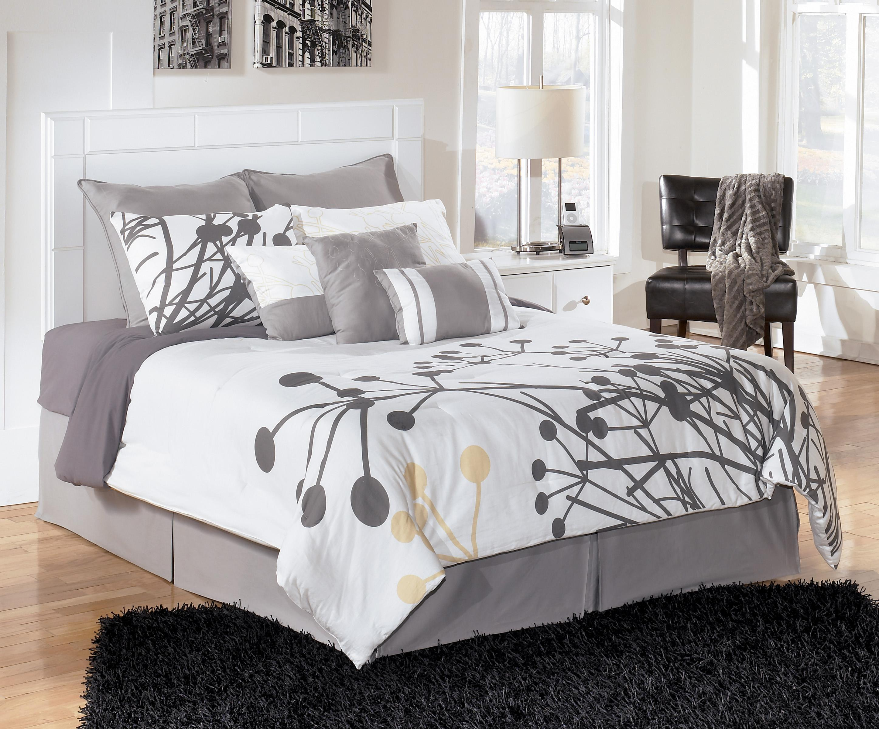 Signature design by ashley weeki full queen panel for Royal headboard