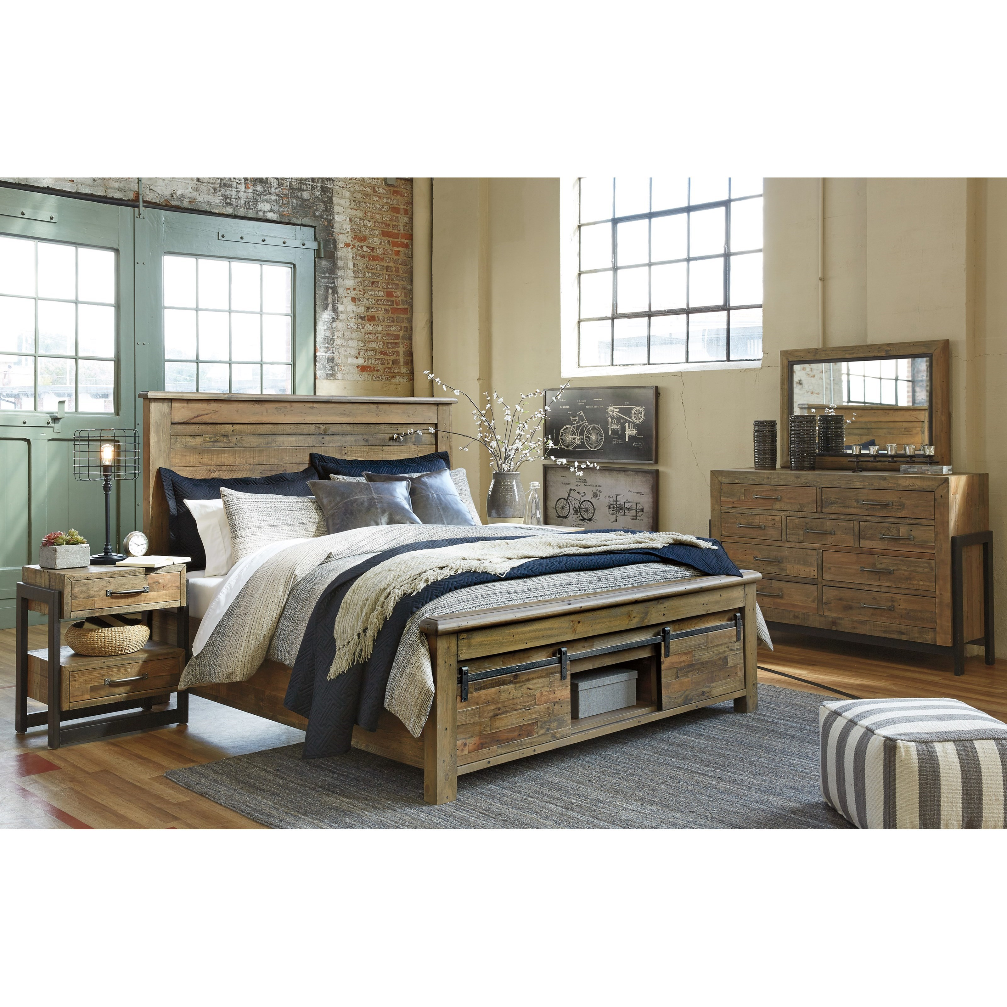 ashley signature design sommerford queen bedroom group dunk bright furniture bedroom groups. Black Bedroom Furniture Sets. Home Design Ideas