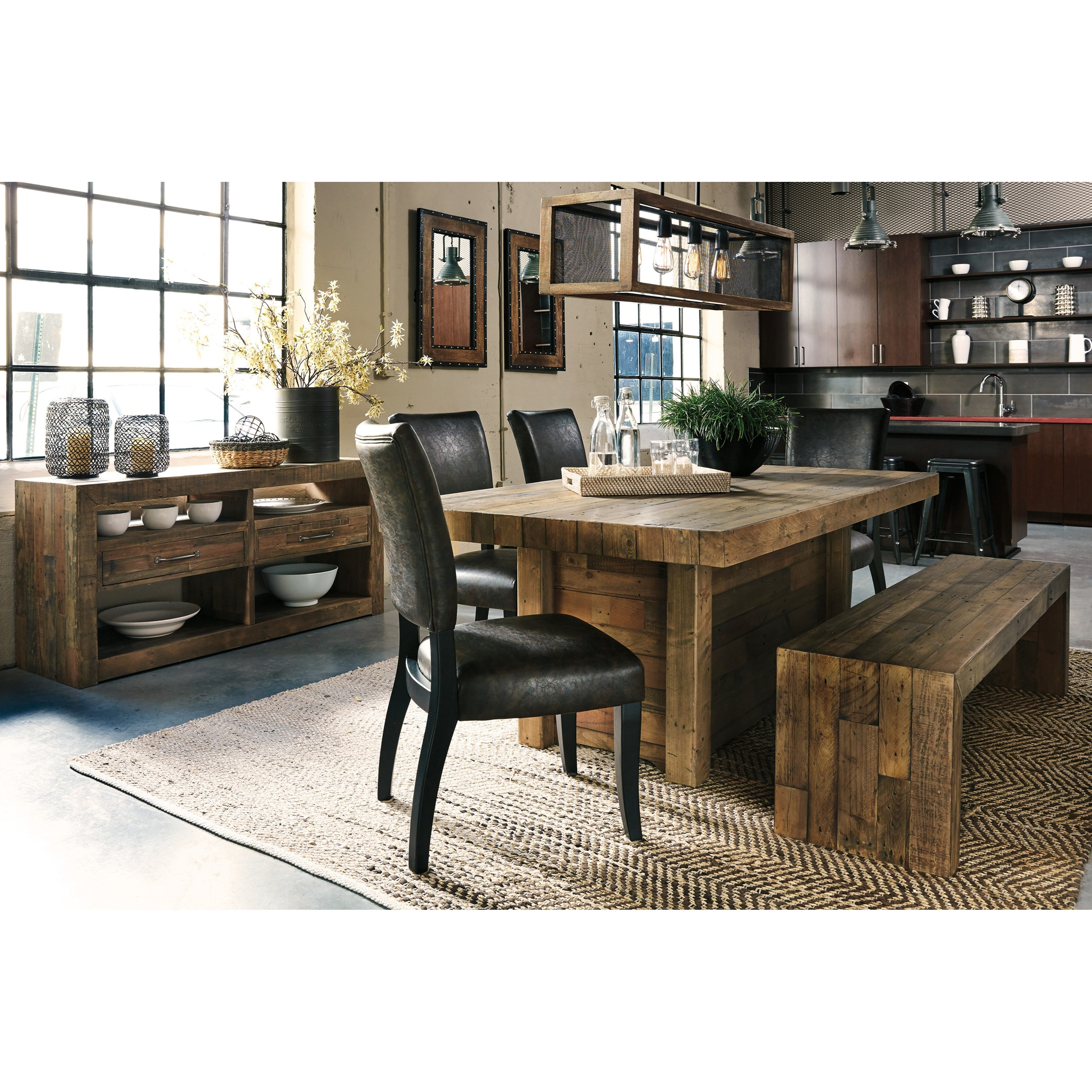 Signature design by ashley sommerford d775 09 large dining for Ashley furniture appleton