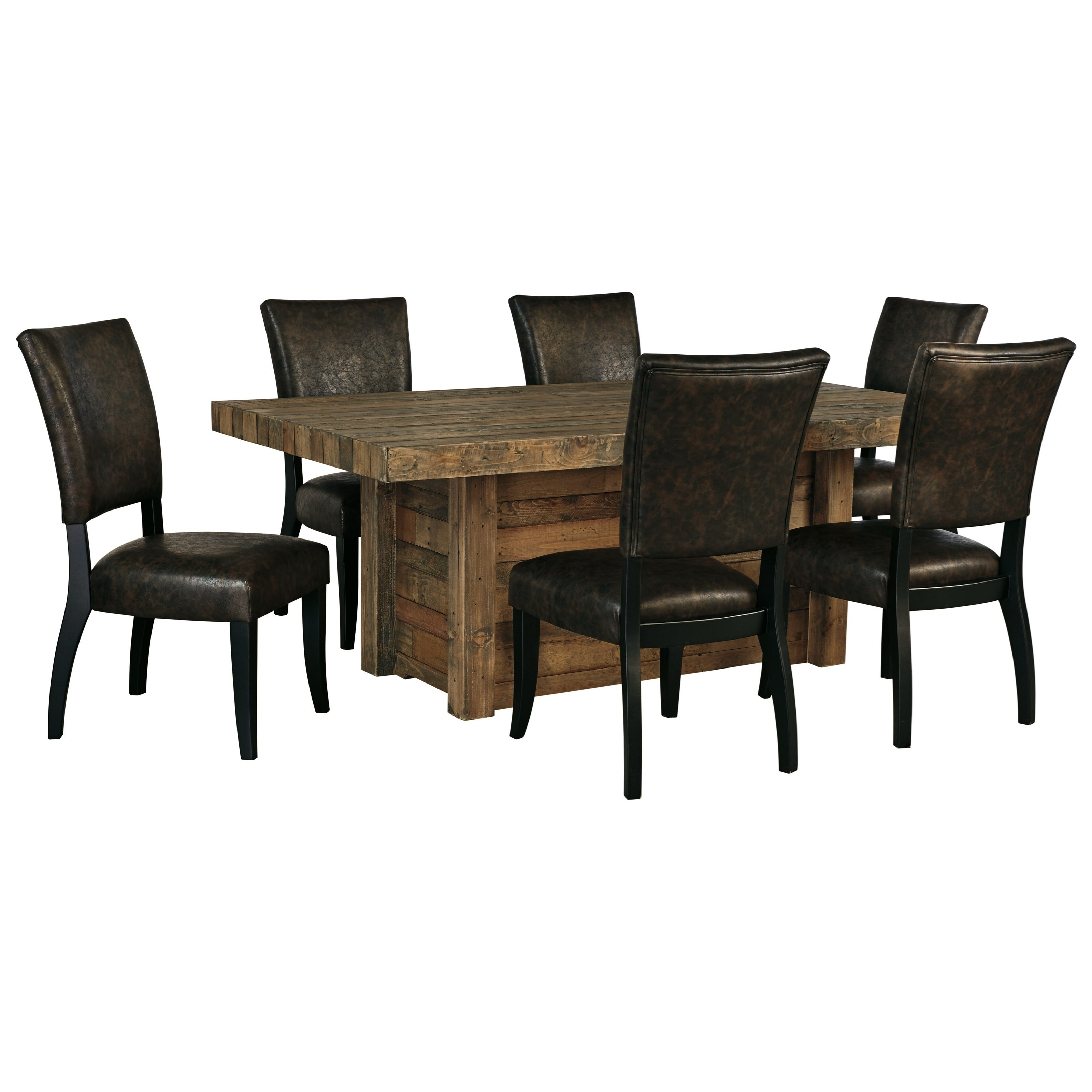 signature design by ashley sommerford 7 piece rectangular dining room table set household. Black Bedroom Furniture Sets. Home Design Ideas