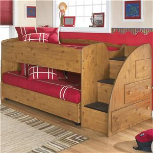 Signature Design By Ashley Stages Twin Loft Bed With Right Steps Chest Storage Ahfa Loft