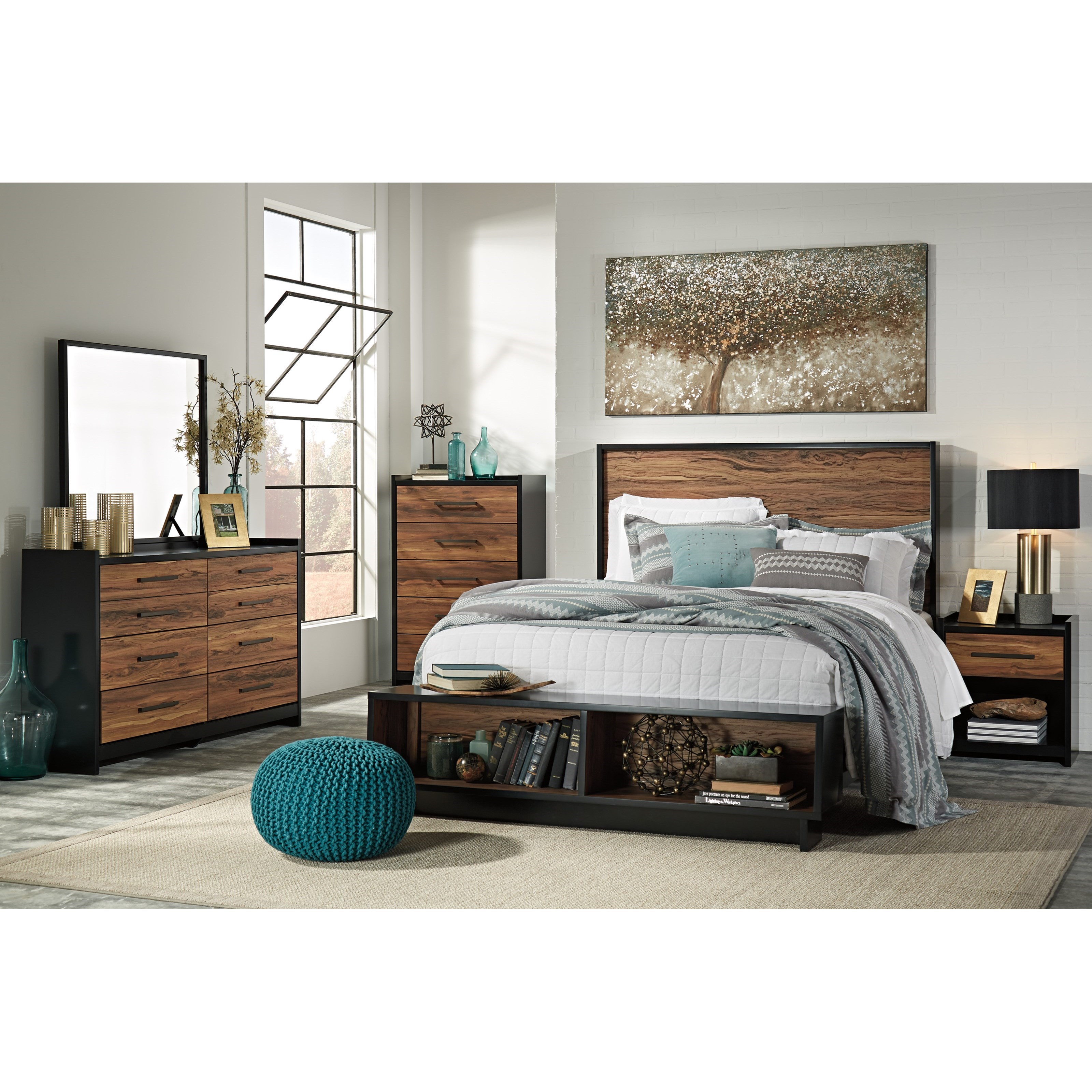 signature design by ashley stavani queen bedroom group wayside furniture bedroom groups. Black Bedroom Furniture Sets. Home Design Ideas