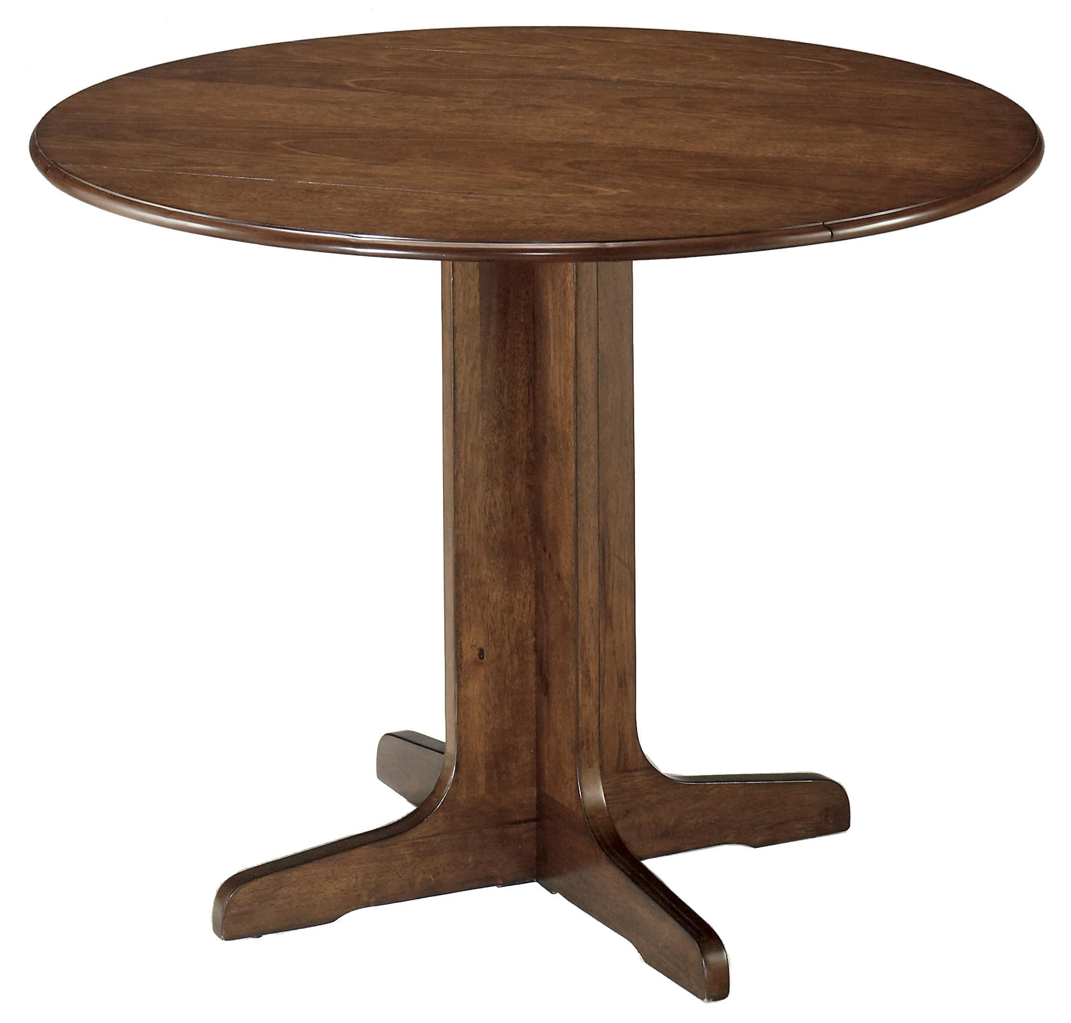 Ashley signature design stuman d293 15 round drop leaf for Round kitchen table sets with leaf