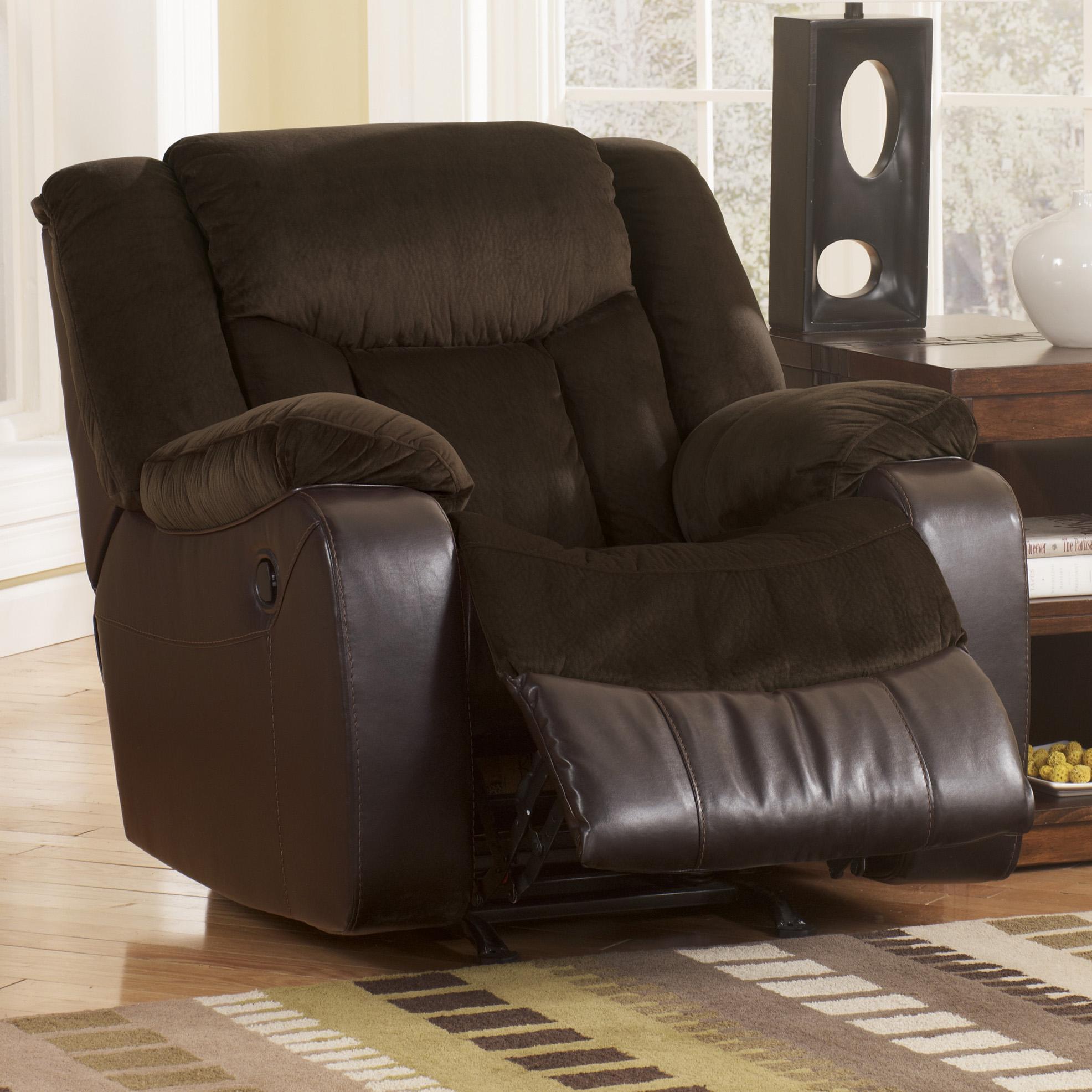 Ashley signature design tafton java 7920225 contemporary for Sofa exterior reclinable