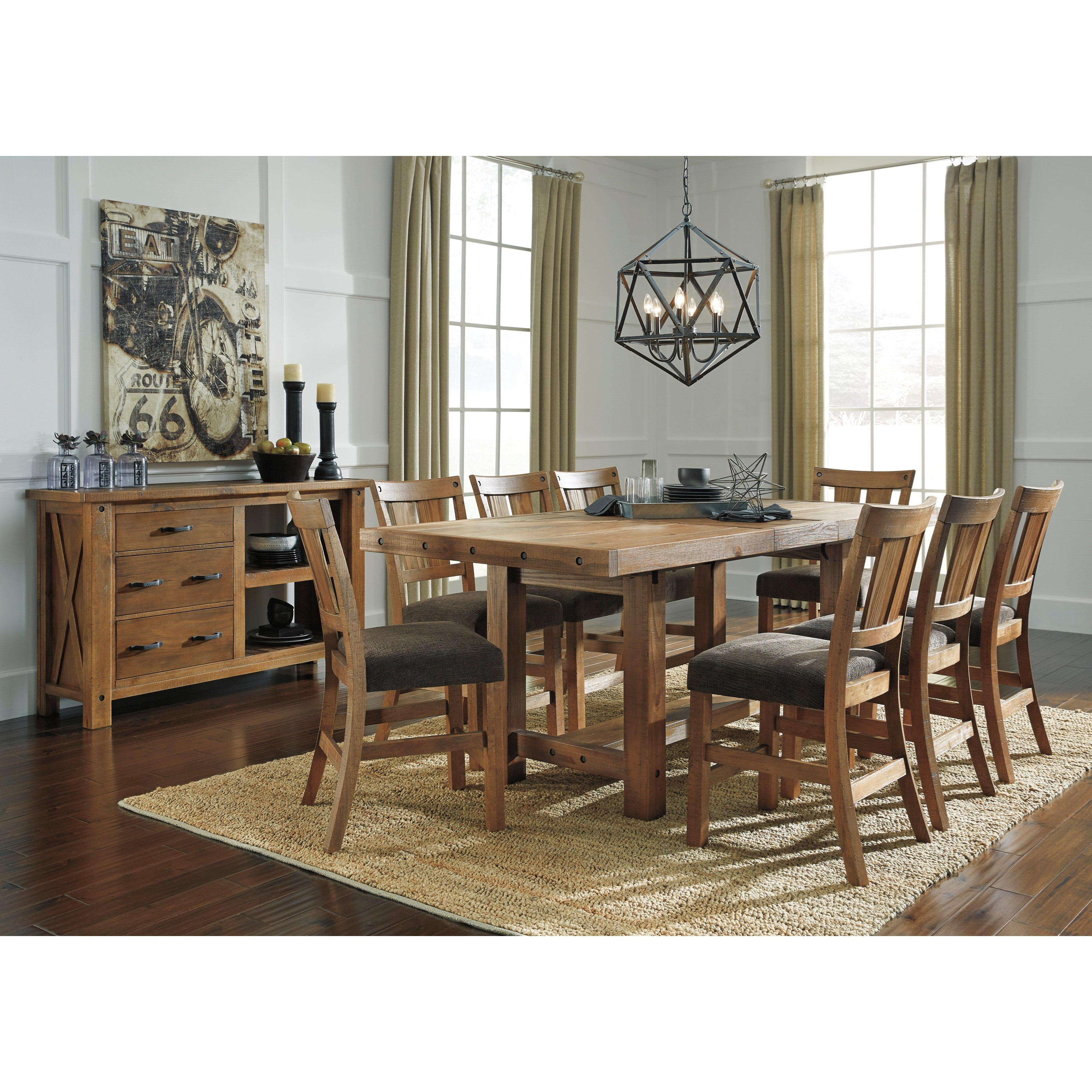 Benchcraft tamilo casual dining room group virginia for Casual dining room furniture