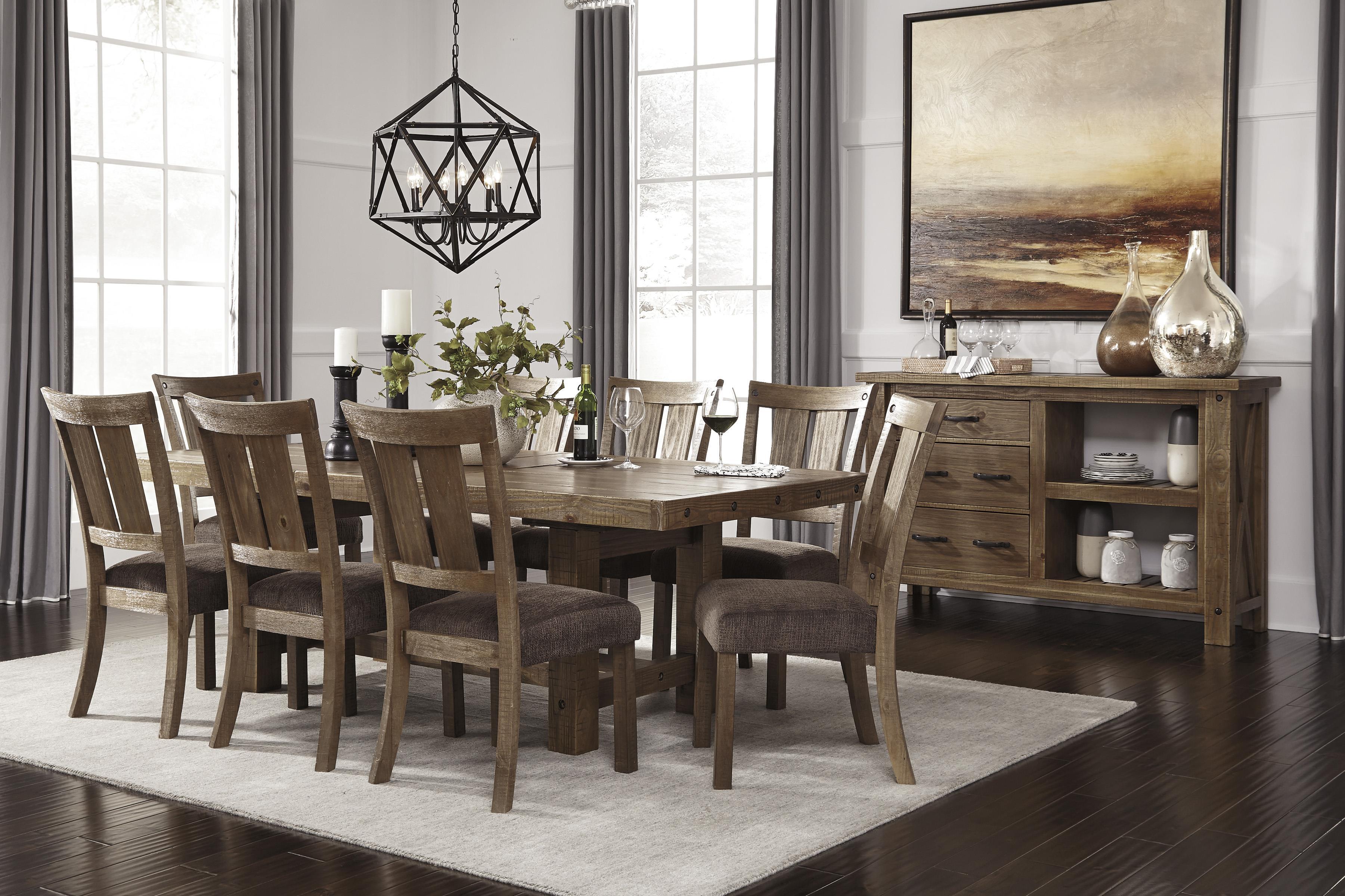 Signature design by ashley tamilo rectangle dining room for Ashley furniture dining room table