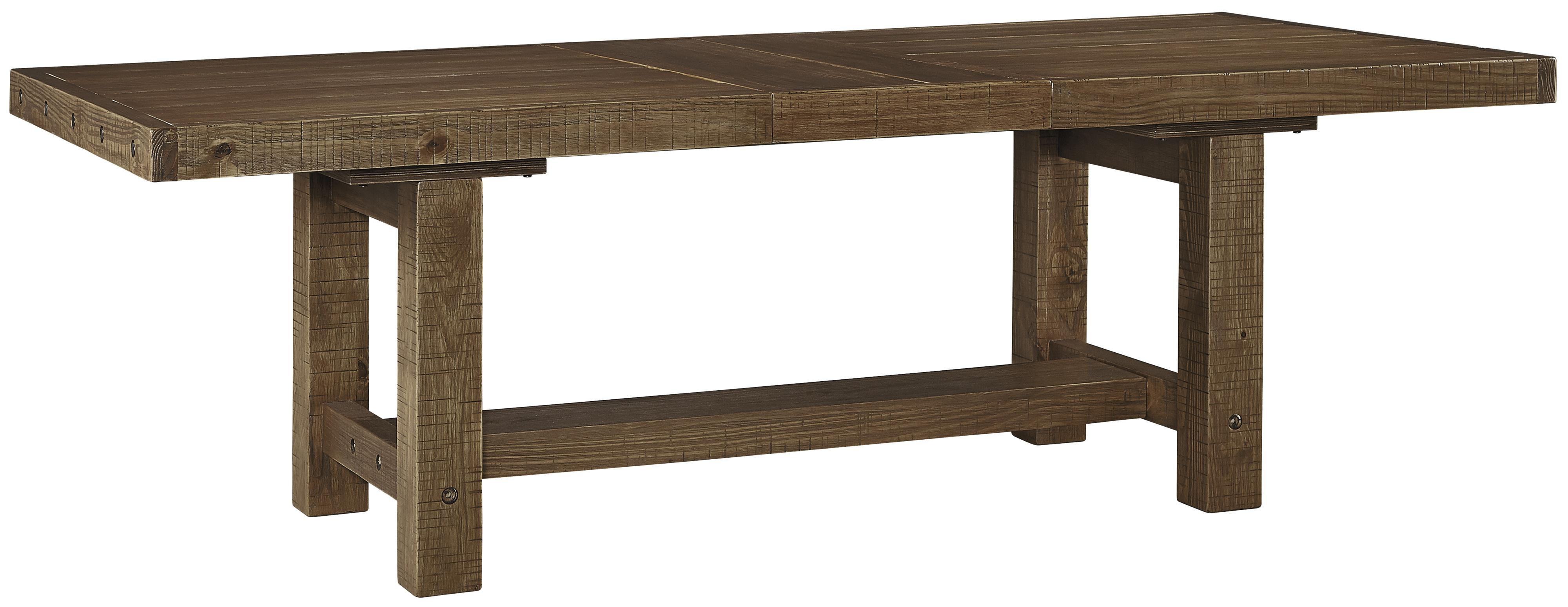 Signature design by ashley tamilo rectangle dining room table with leaf wayside furniture - Rectangle kitchen tables ...