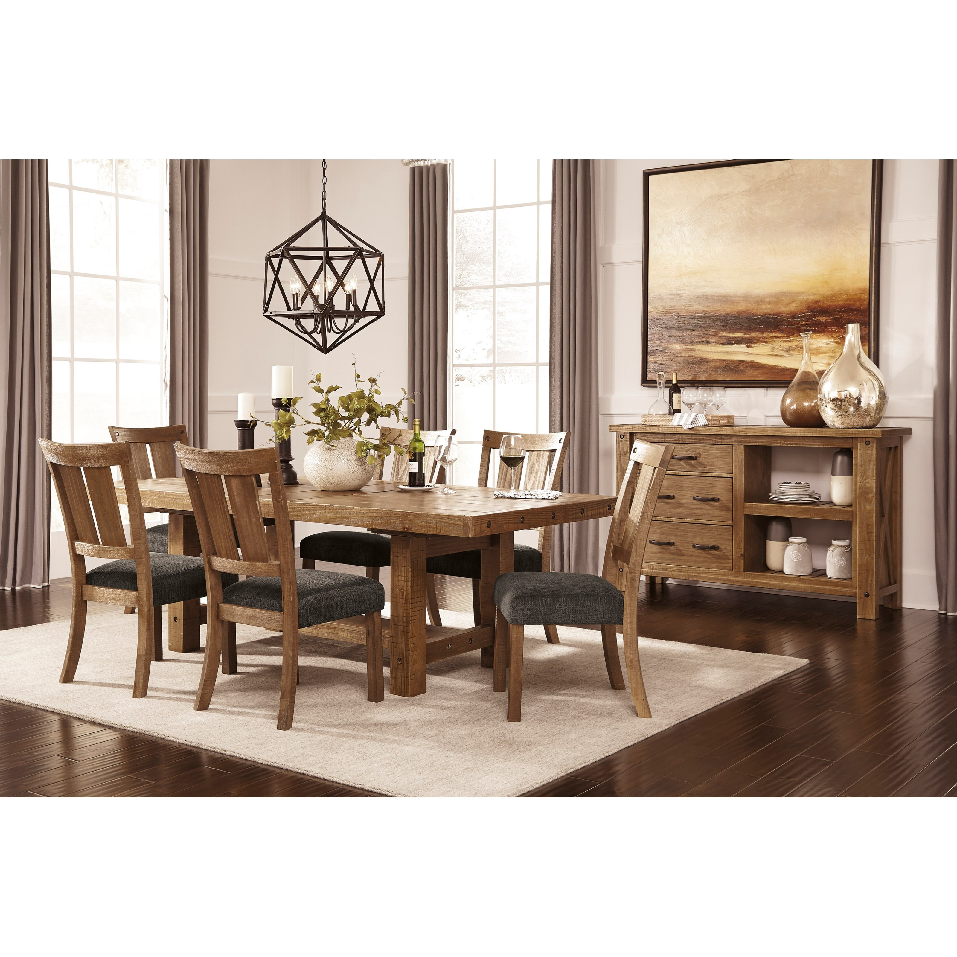 Signature design by ashley tamilo rectangle dining room for Dining room leaf