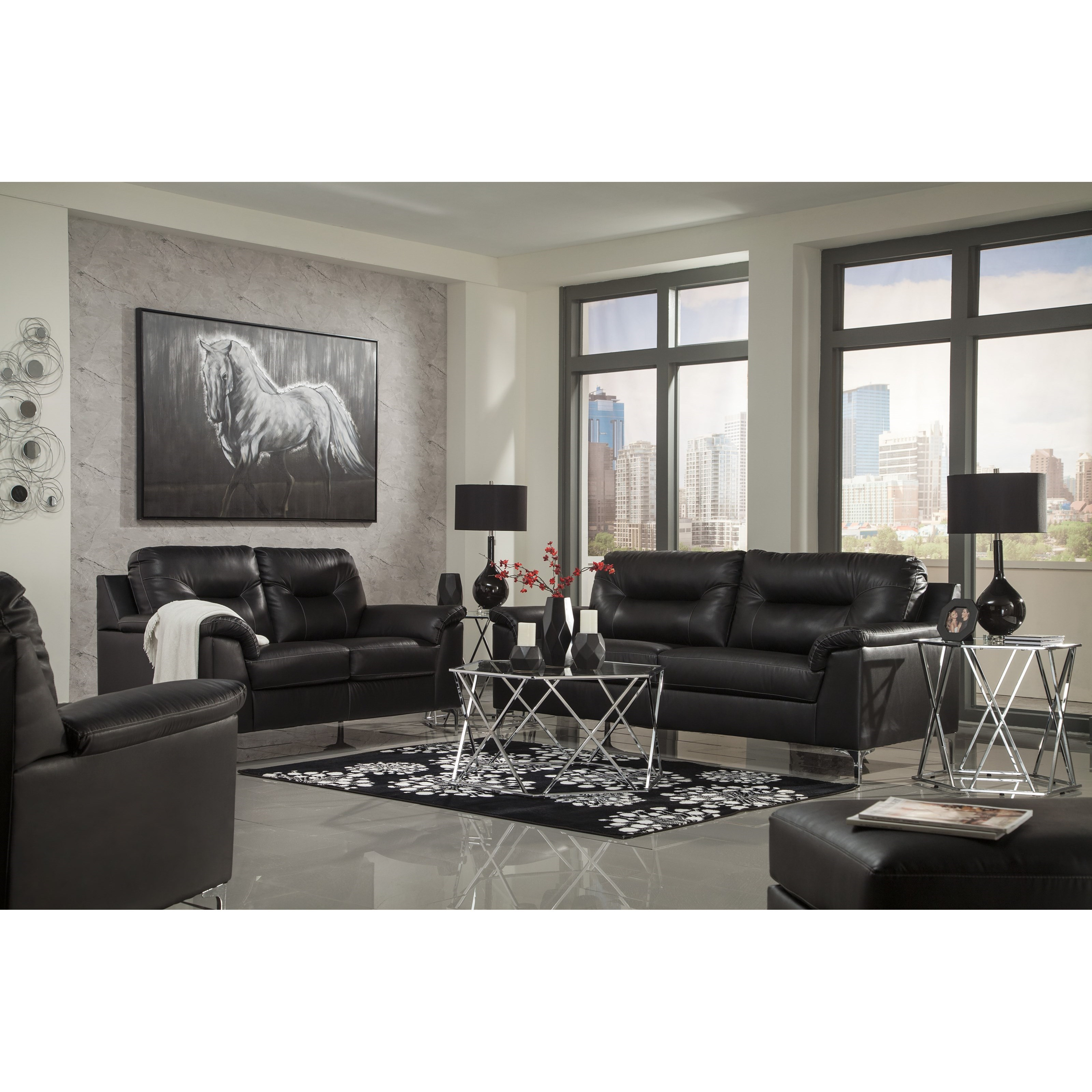 Signature design by ashley tensas living room group beck for Living room furniture groups