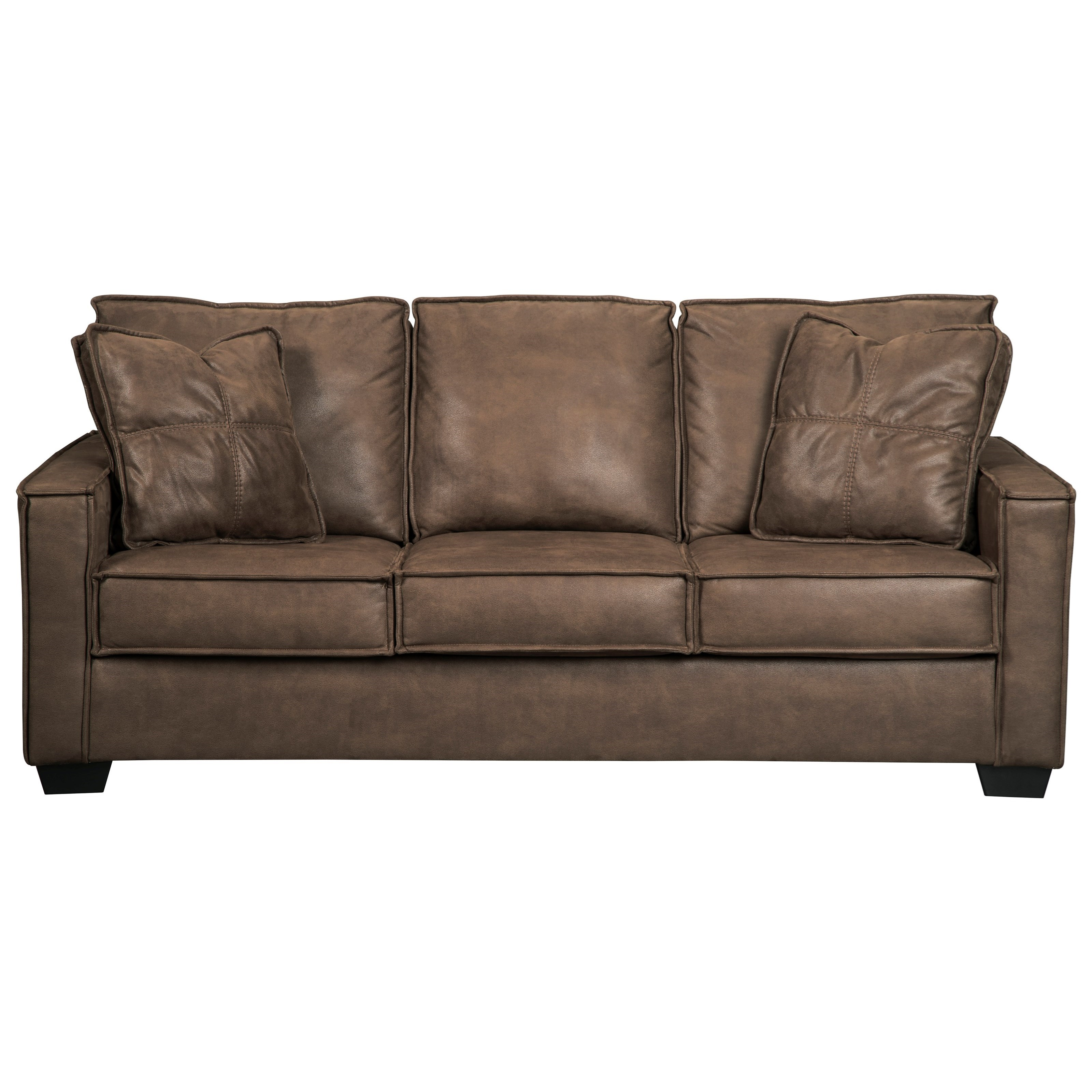 Signature design by ashley terrington faux leather sofa for Ashley leather sofa