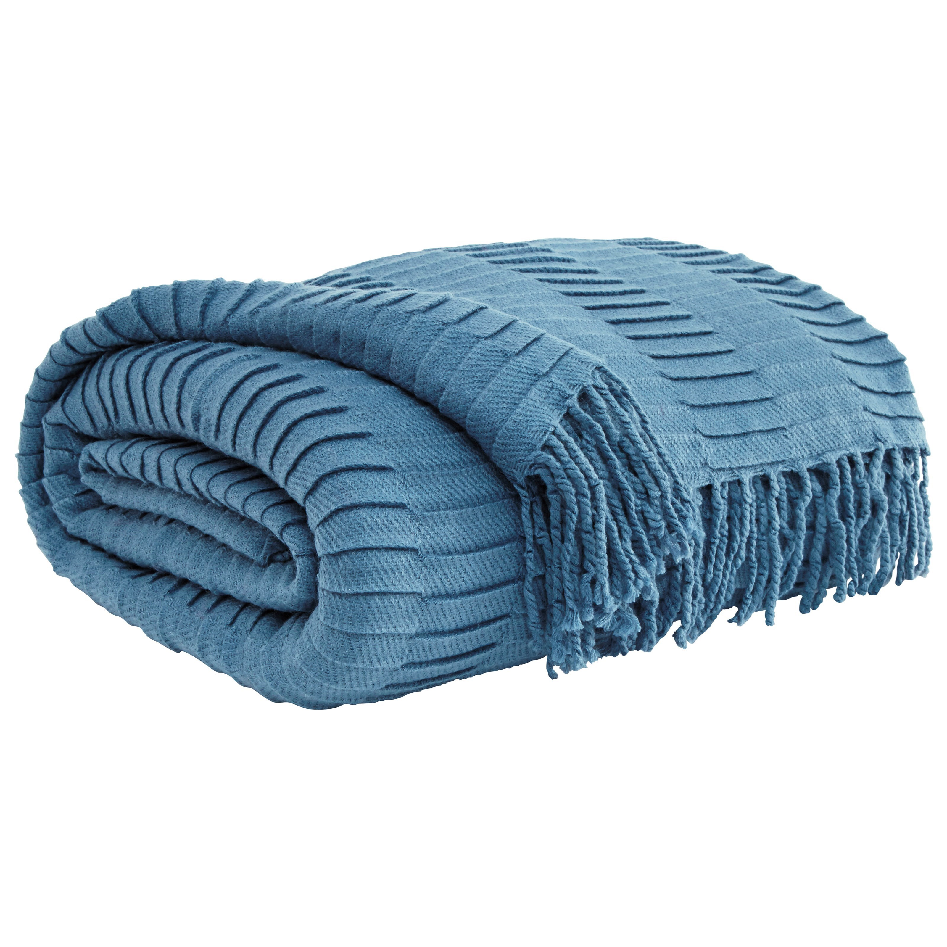 Signature Design By Ashley Throws Mendez Blue Throw
