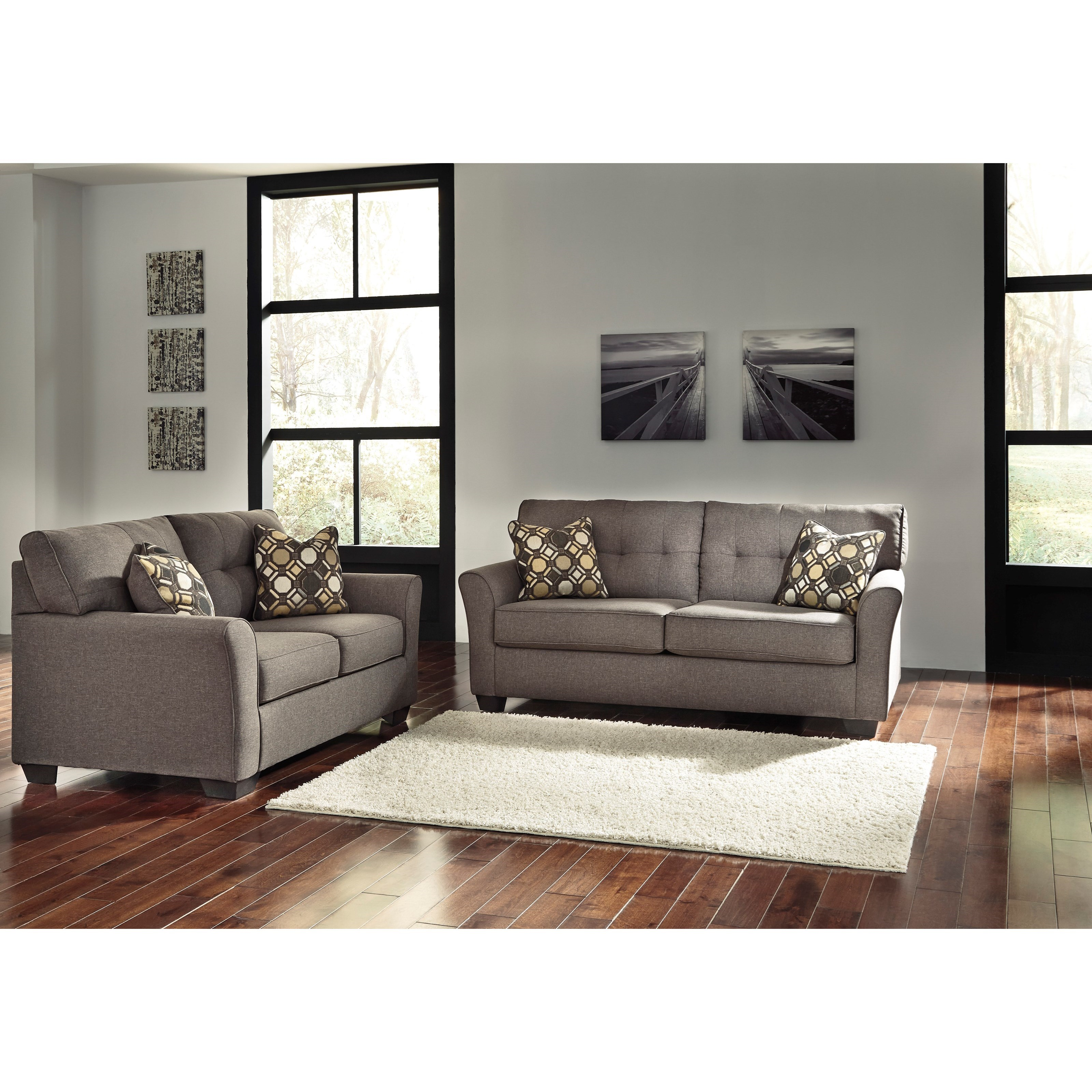 Signature design by ashley tibbee stationary living room for Living room furniture groups