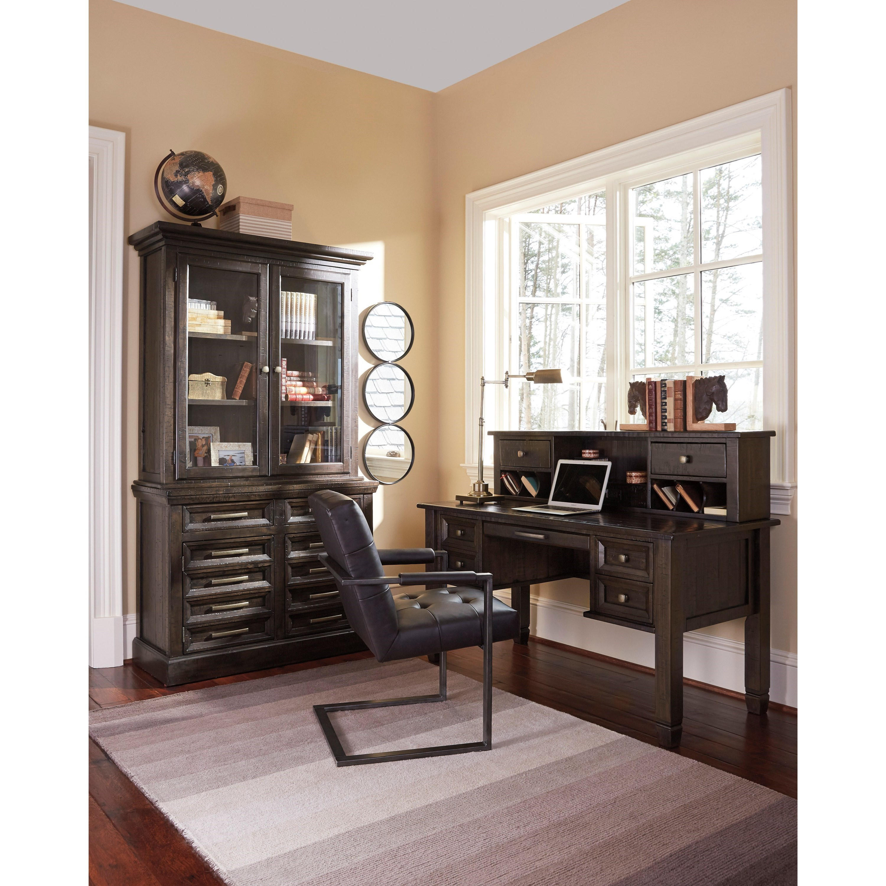 Ashley Furniture Office Desk: Signature Design By Ashley Townser Solid Pine Home Office
