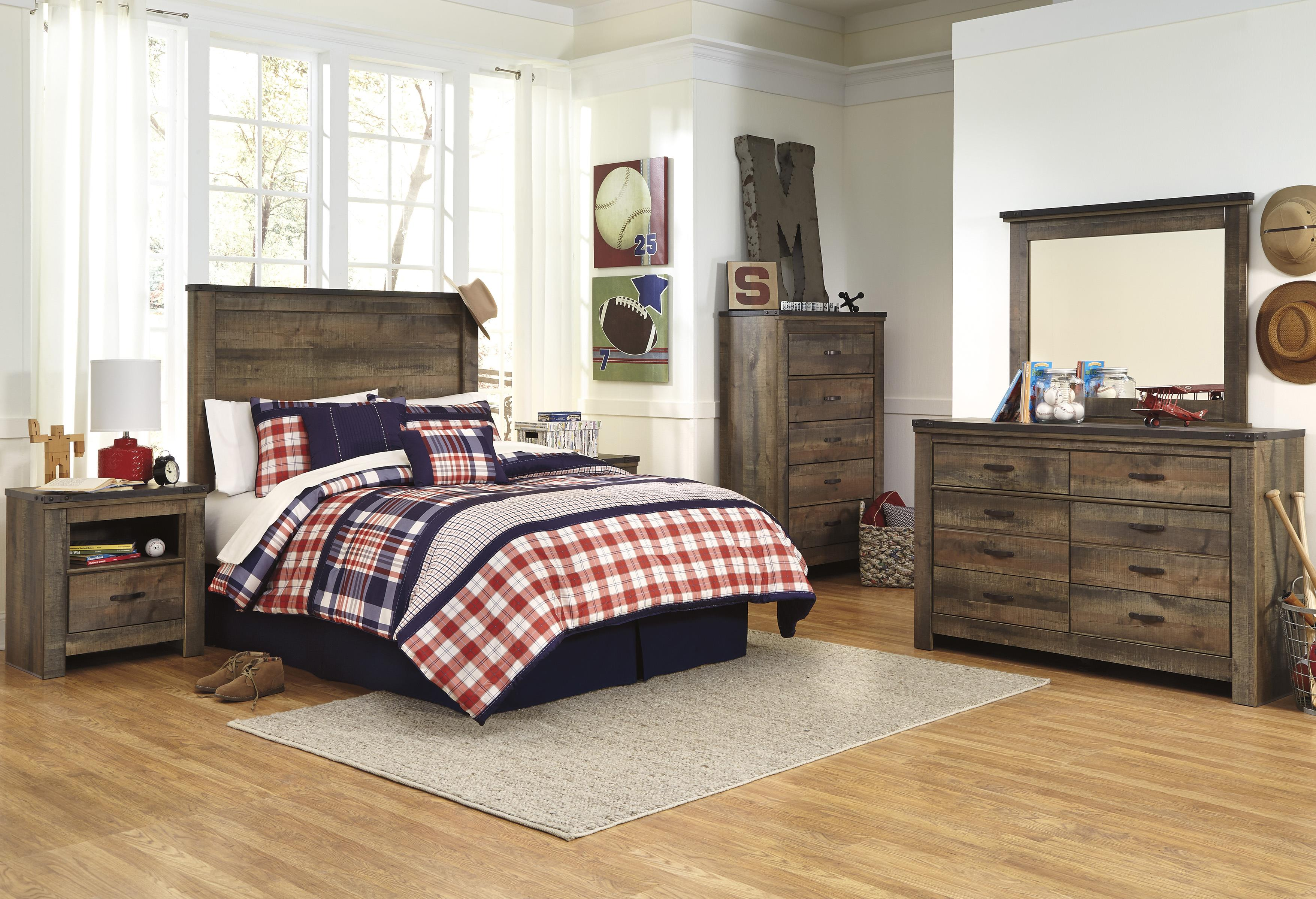 signature design by ashley trinell full bedroom group olinde 39 s furniture bedroom groups. Black Bedroom Furniture Sets. Home Design Ideas