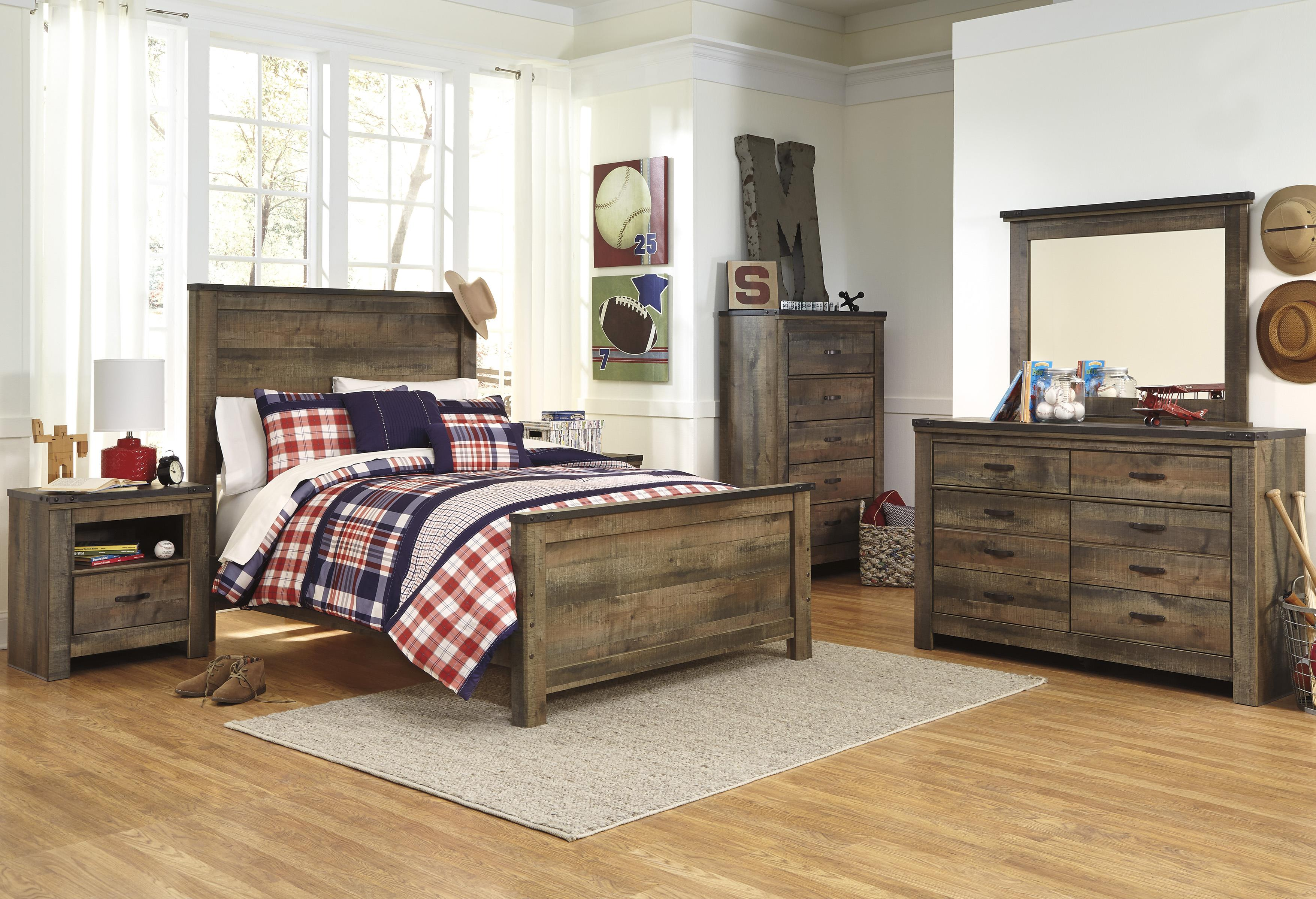 Ashley signature design trinell full bedroom group dunk for Bedroom groups