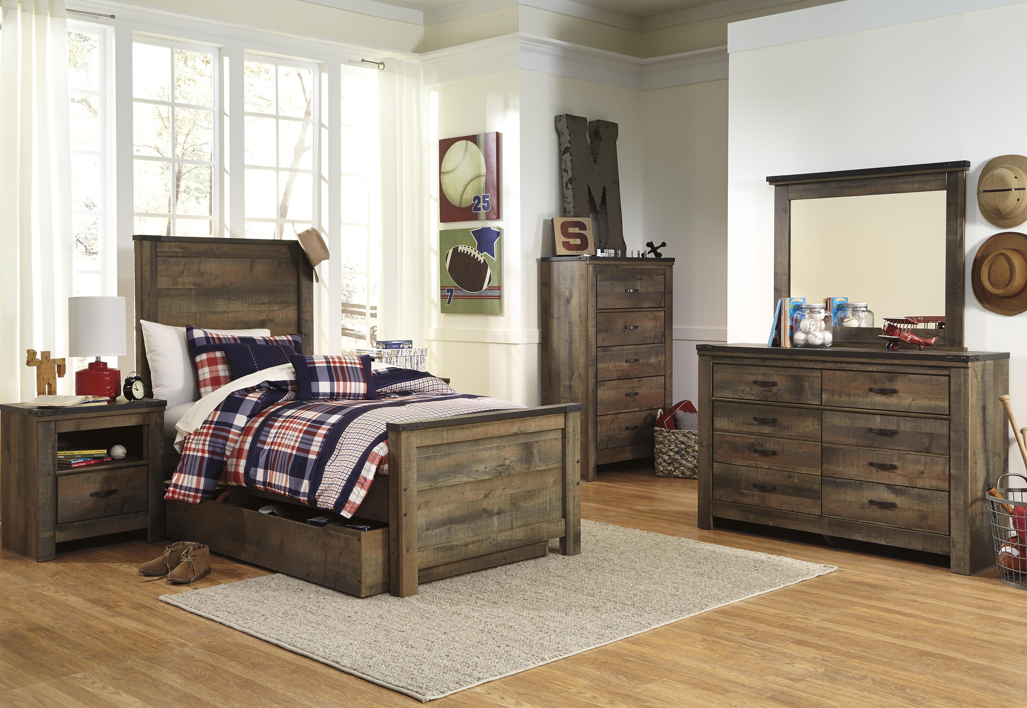 ashley trinell twin bedroom group wayside furniture bedroom groups