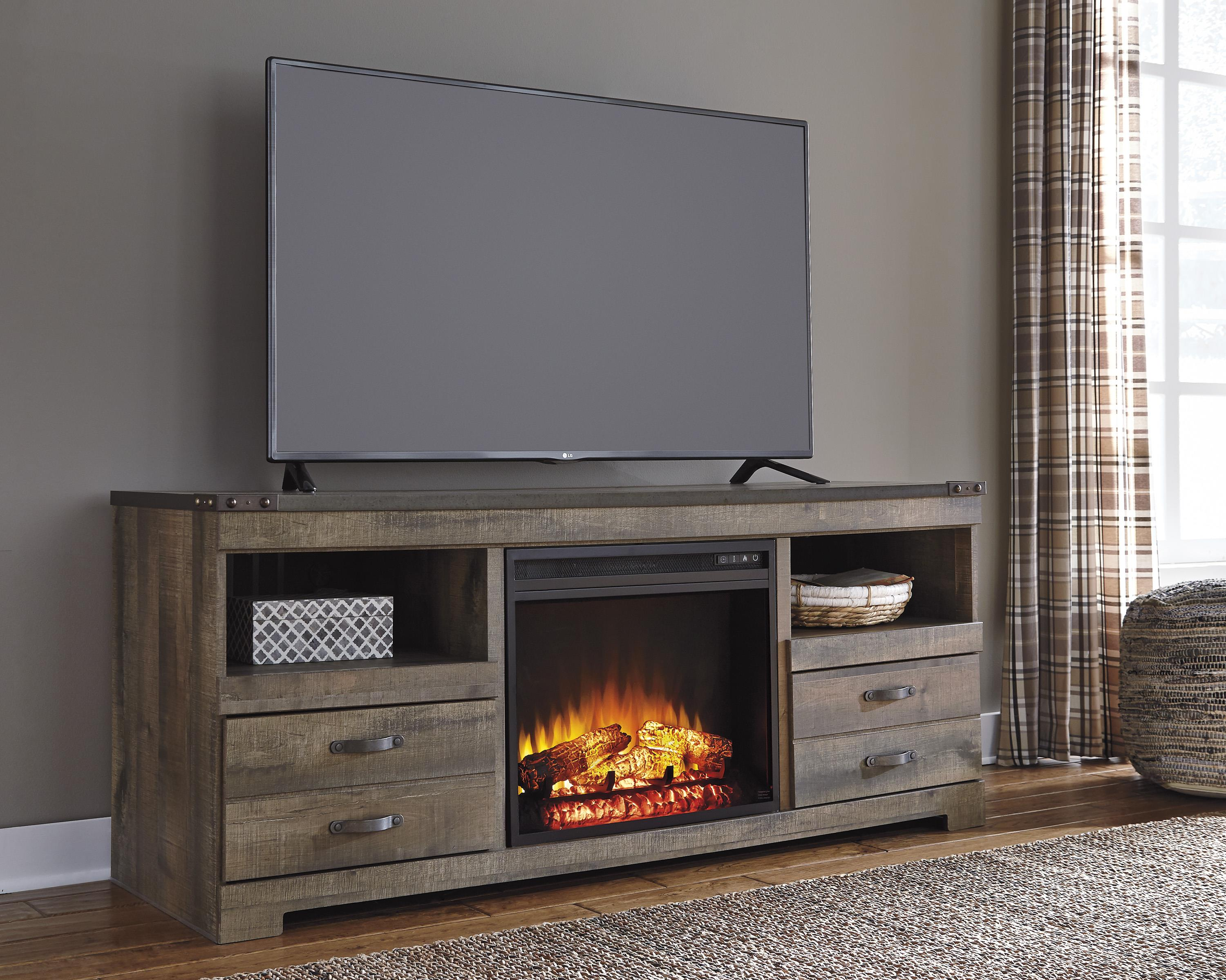Signature Design by Ashley Trinell Rustic TV Stand