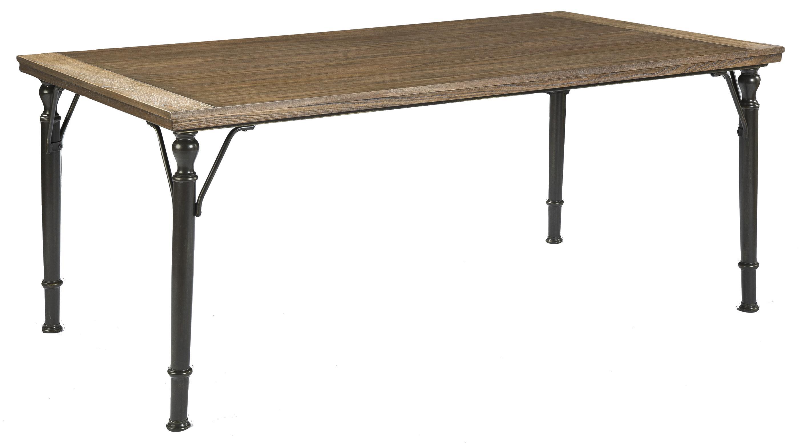 signature design by ashley tripton 5 piece rectangular dining room table set w wood top metal. Black Bedroom Furniture Sets. Home Design Ideas