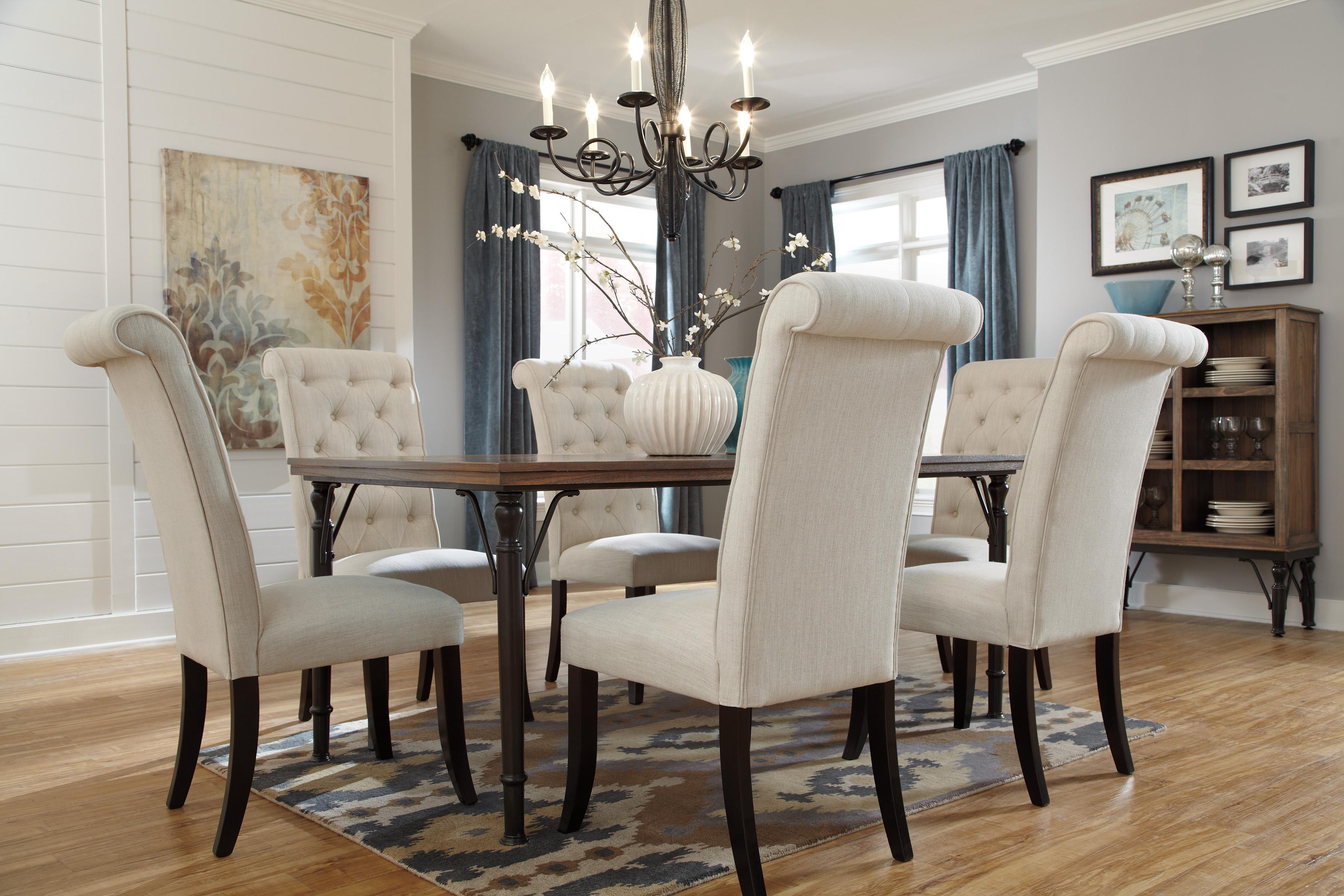 Signature design by ashley tripton d530 25 medium rustic for Medium dining room ideas